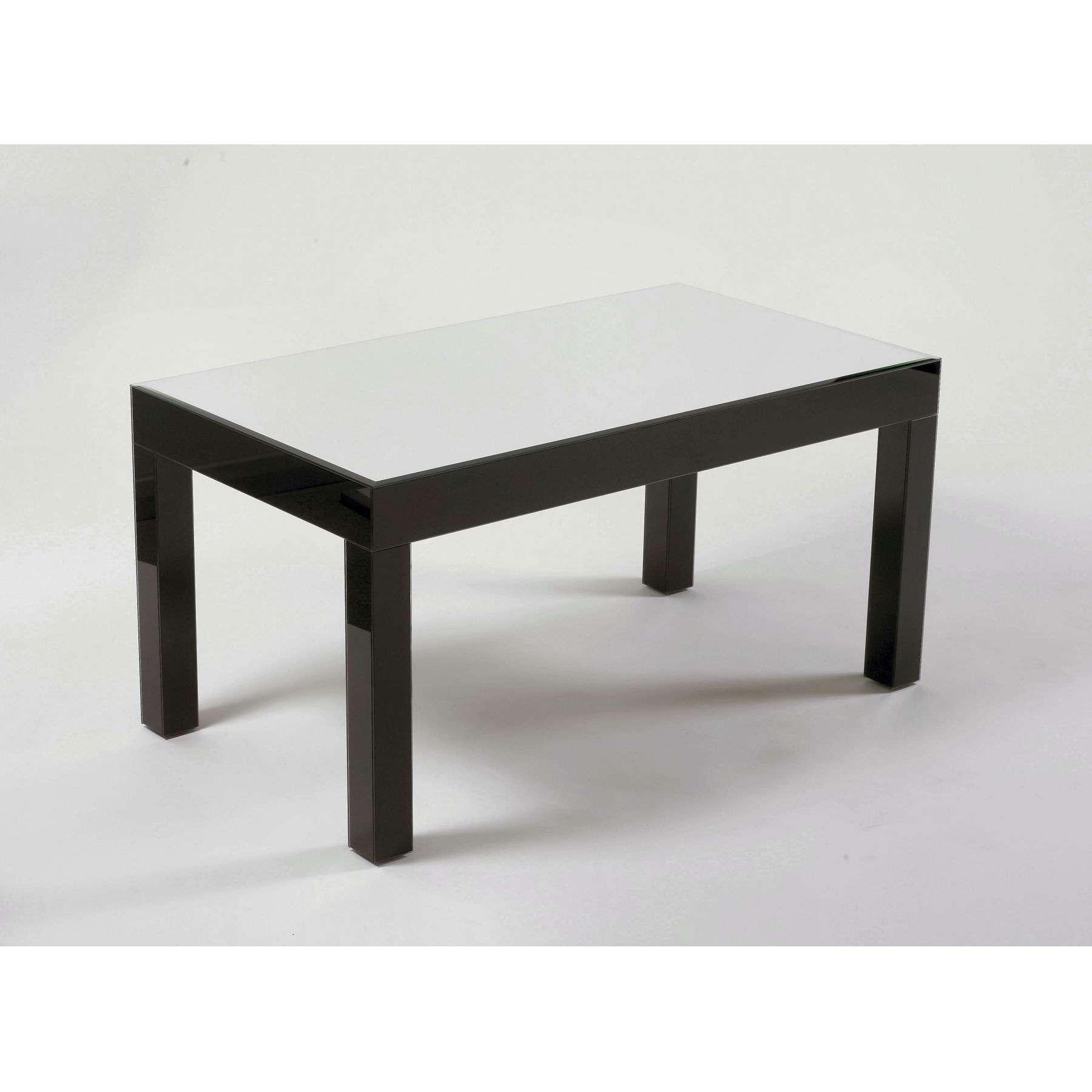 Well Known Dark Glass Coffee Tables With Silver & Black Glass Coffee Table – Glass Furniture From (View 8 of 20)