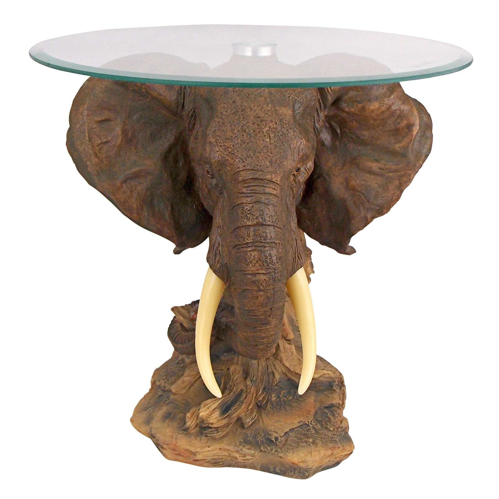 Well Known Elephant Coffee Tables With Regard To Design Toscano Lord Earl Houghton's Trophy Elephant Coffee Table (View 13 of 20)