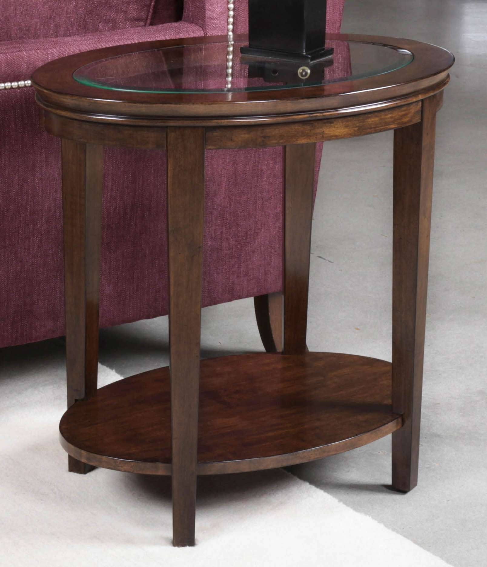 Well Known Elise Coffee Tables Throughout Elise Oval End Table (View 19 of 20)