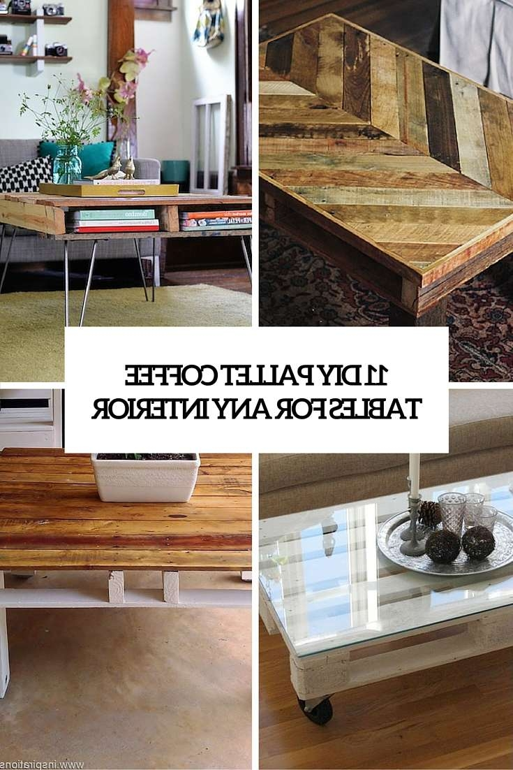 Well Known Ethnic Coffee Tables Pertaining To 11 Diy Pallet Coffee Tables For Any Interior – Shelterness (View 17 of 20)
