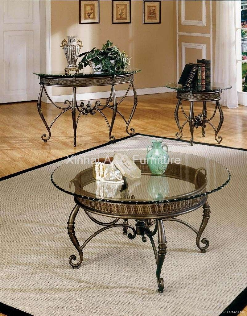 Well Known Glass And Silver Coffee Tables With Coffee Tables : Silver Coffee Table Set Contemporary Console Round (View 18 of 20)