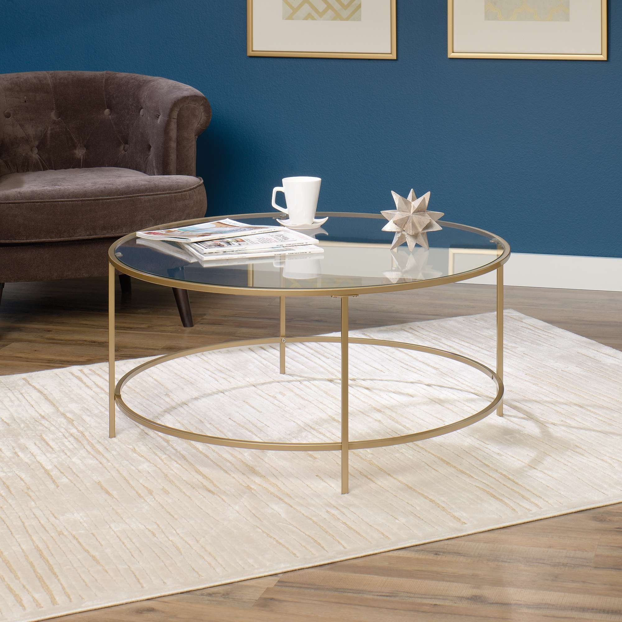 Well Known Glass Circular Coffee Tables Intended For International Lux (View 18 of 20)