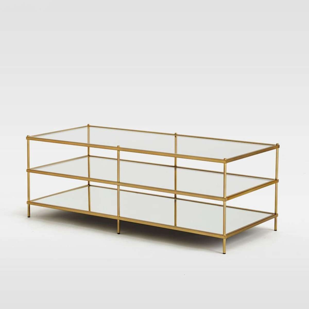 Well Known Glass Coffee Table With Shelf In Coffee Table Off Crate And Barrel Era Rectangular Glass Top Coffee (View 19 of 20)