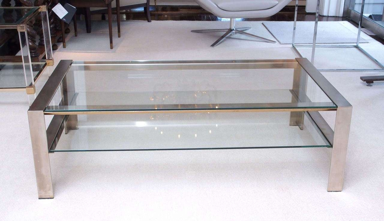 Well Known Glass Steel Coffee Tables Within Coffee Tables Ideas: Top Stainless Coffee Table Legs Stainless (View 19 of 20)