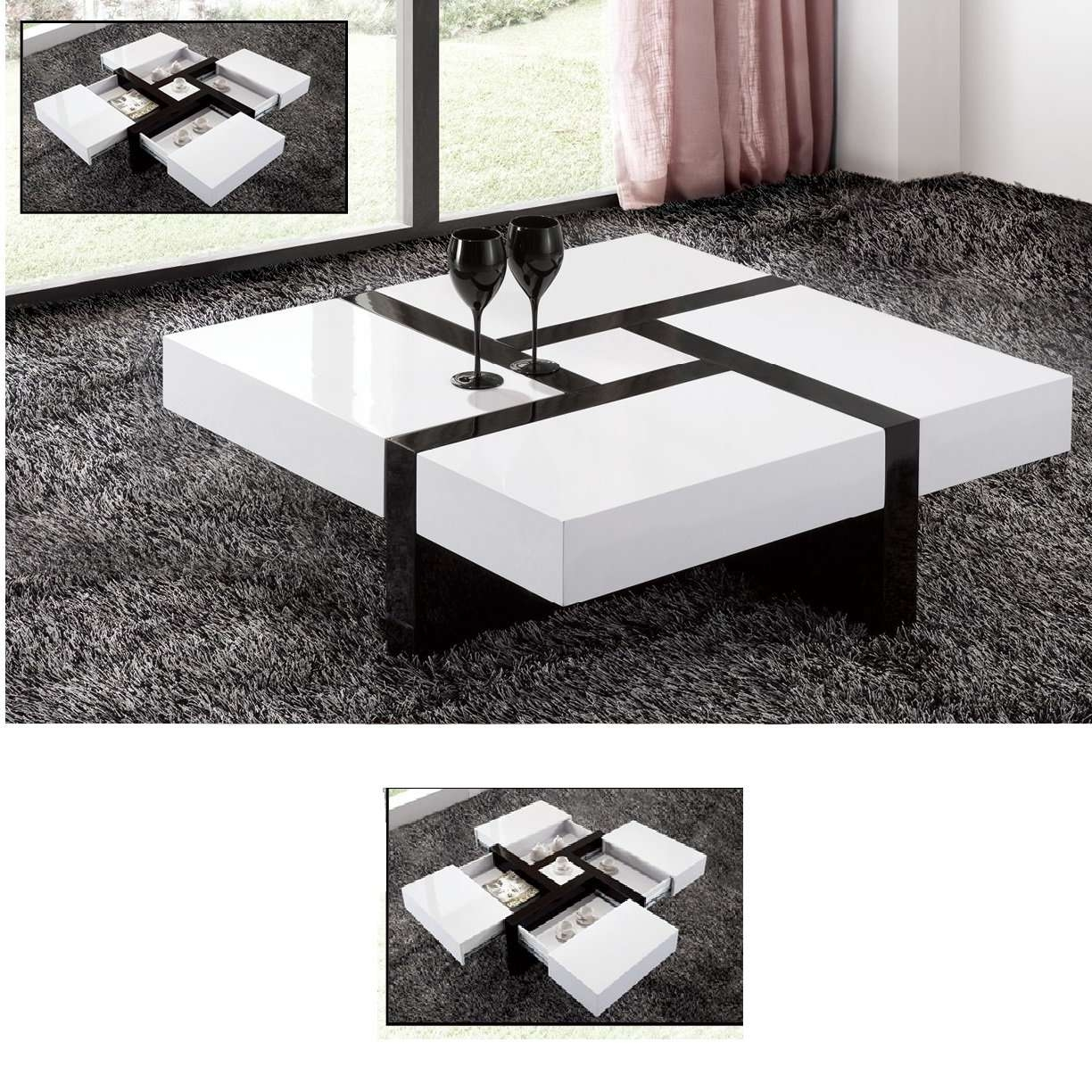 Well Known Gloss Coffee Tables Pertaining To Extendable High Gloss Coffee Table – Fif Blog (View 2 of 20)