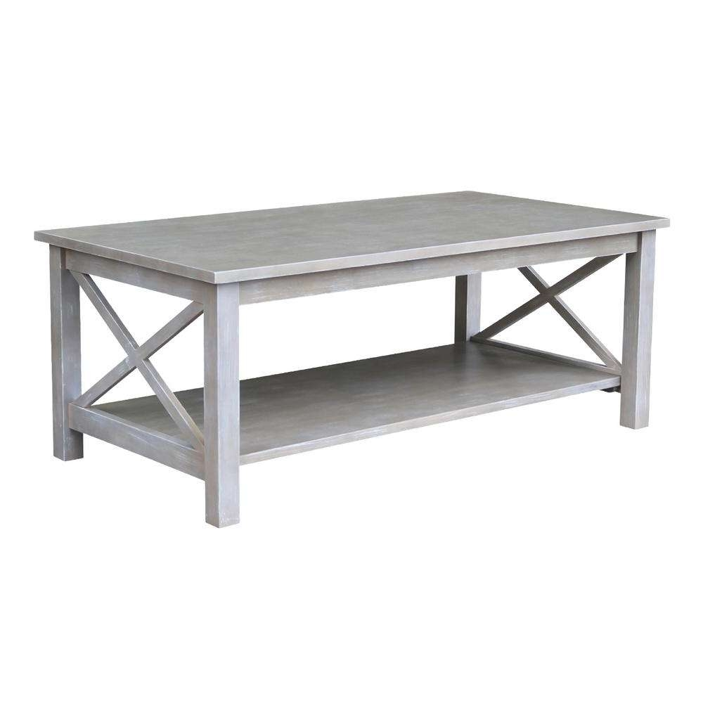 Well Known Grey Coffee Tables For International Concepts Hampton Weathered Grey Coffee Table Ot (View 12 of 20)