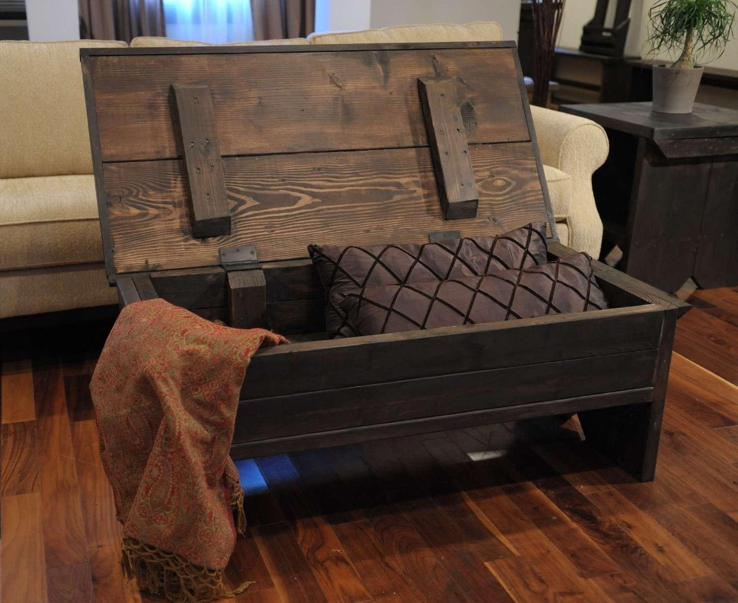 Well Known Hardwood Coffee Tables With Storage Regarding Coffee Tables : Attractive Top Rustic Storage Coffee Table Diy (View 19 of 20)