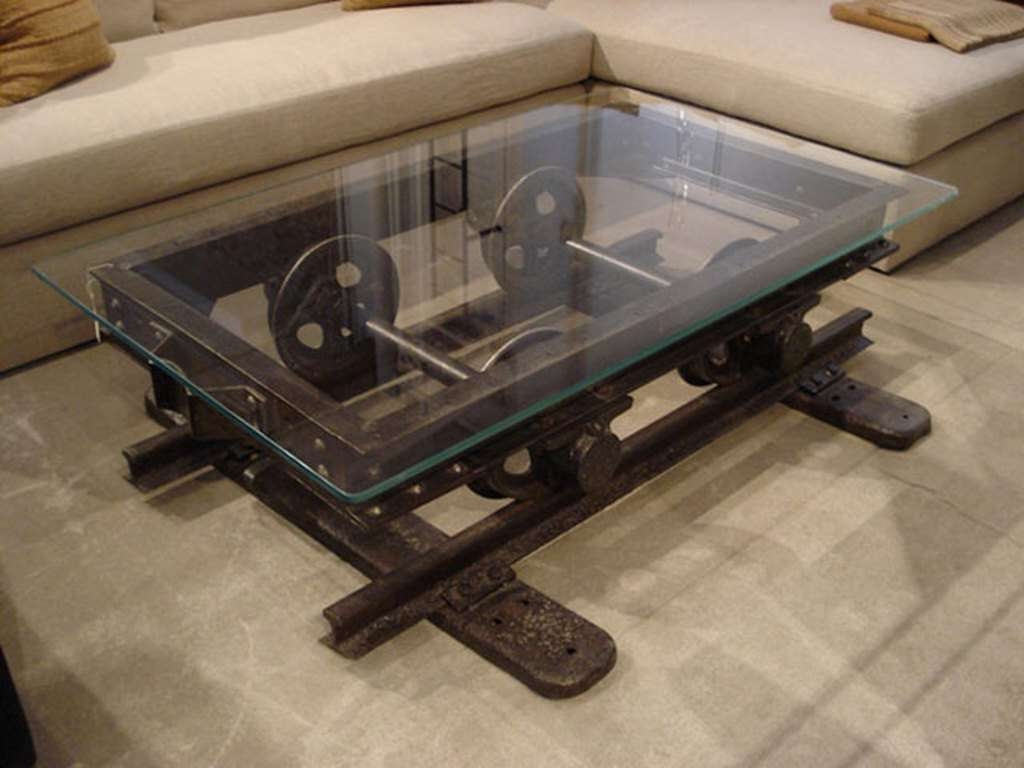 Well Known Industrial Coffee Tables With Regard To Rustic Industrial Coffee Table For Living 24+ Startling Industrial (View 6 of 20)