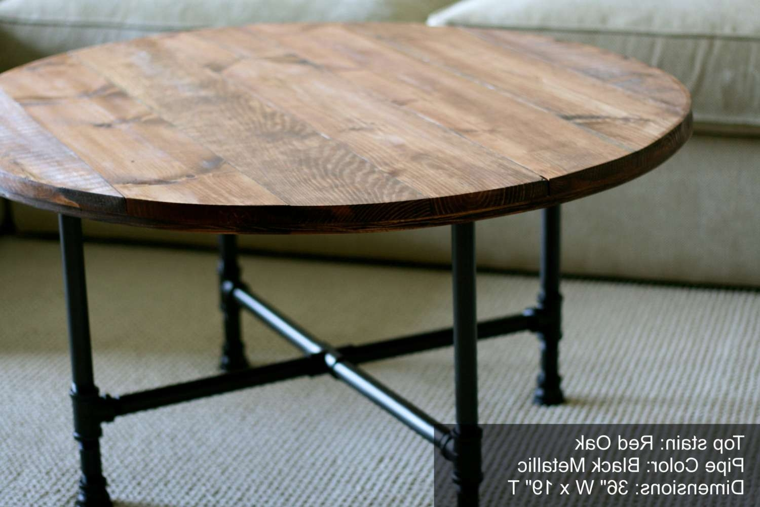 Well Known Industrial Round Coffee Tables Intended For Round Industrial Coffee Table Reclaimed Sumsouthernsunshine – Dma (View 3 of 20)