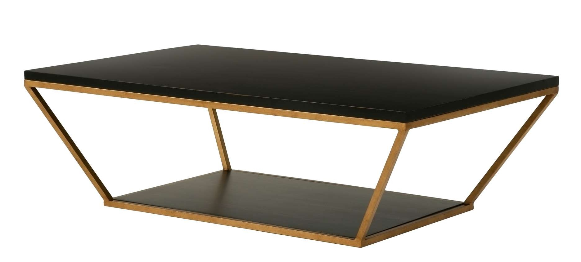 Well Known Large Rectangular Coffee Tables With Coffee Tables : Blair Rectangular Coffee Table Gold Black (View 18 of 20)