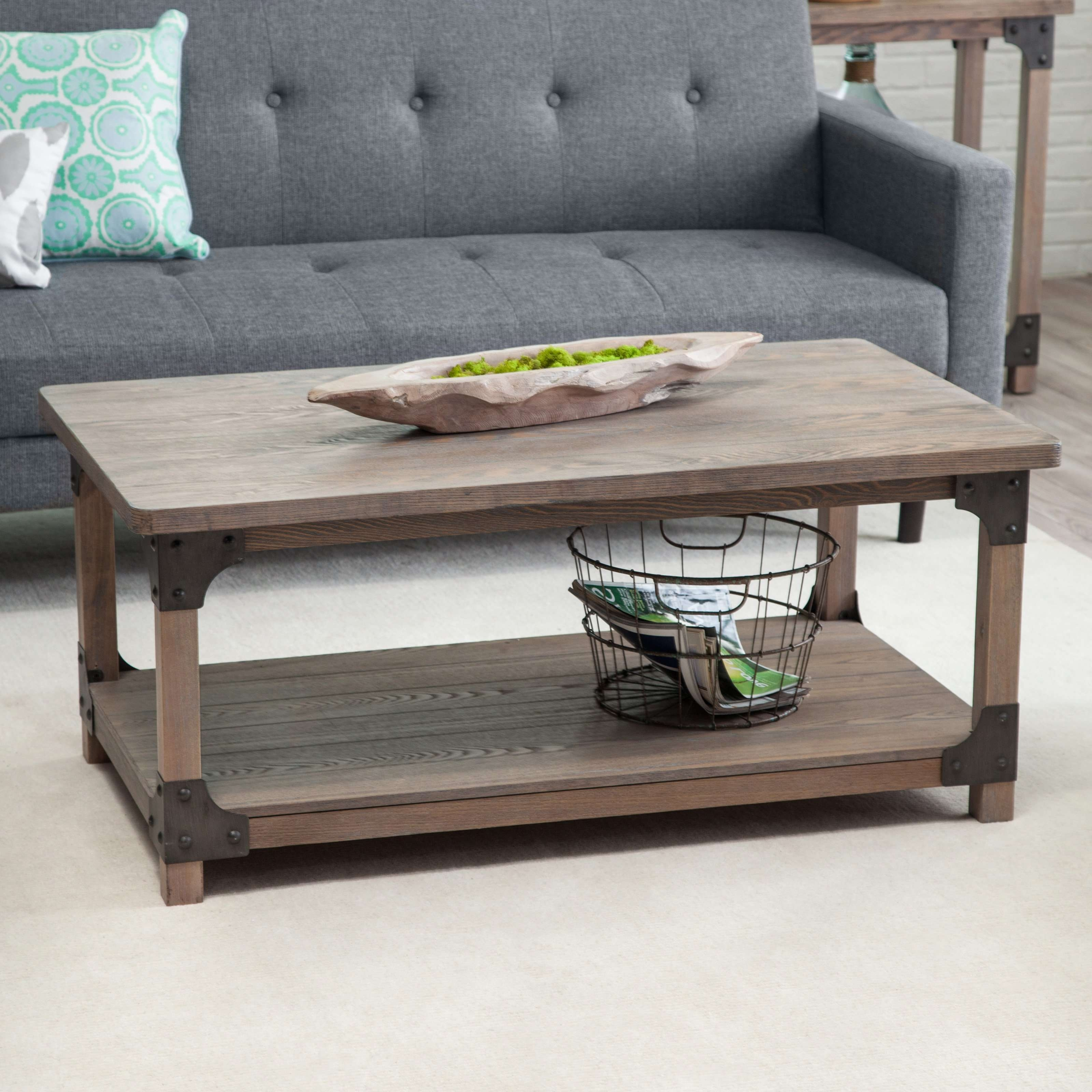 Well Known Large Rustic Coffee Tables Throughout Coffee Tables : Industrial Rustic Coffee Table Tables With Casters (View 19 of 20)