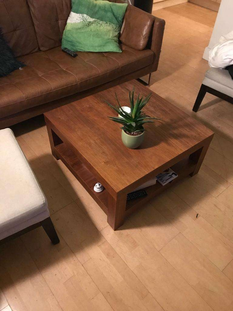 Well Known Large Solid Wood Coffee Tables Within West Elm – Large Solid Wood Coffee Table (View 19 of 20)
