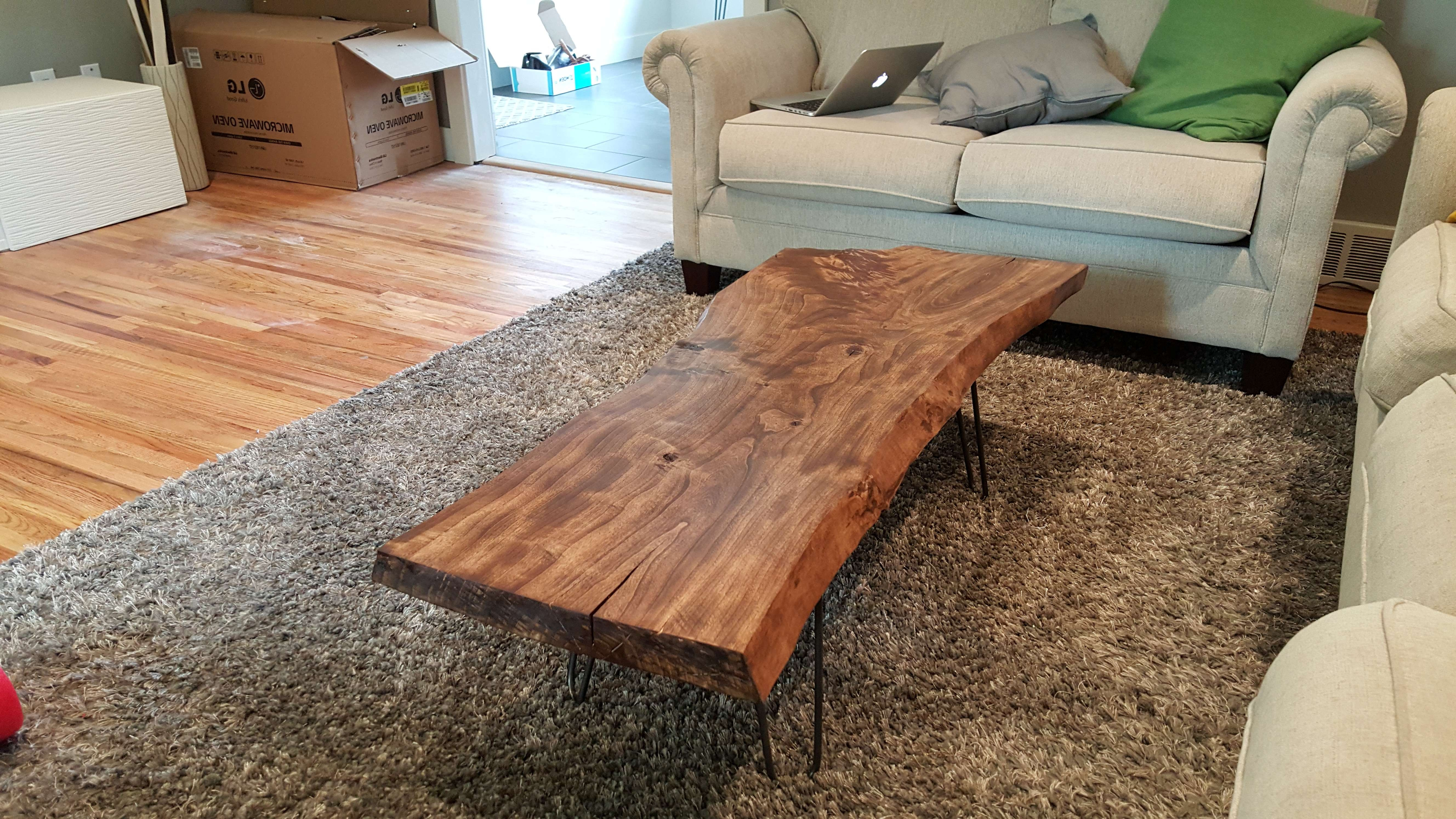 Well Known Live Edge Coffee Tables Inside Diy Live Edge Wood Coffee Table – Album On Imgur (View 19 of 20)