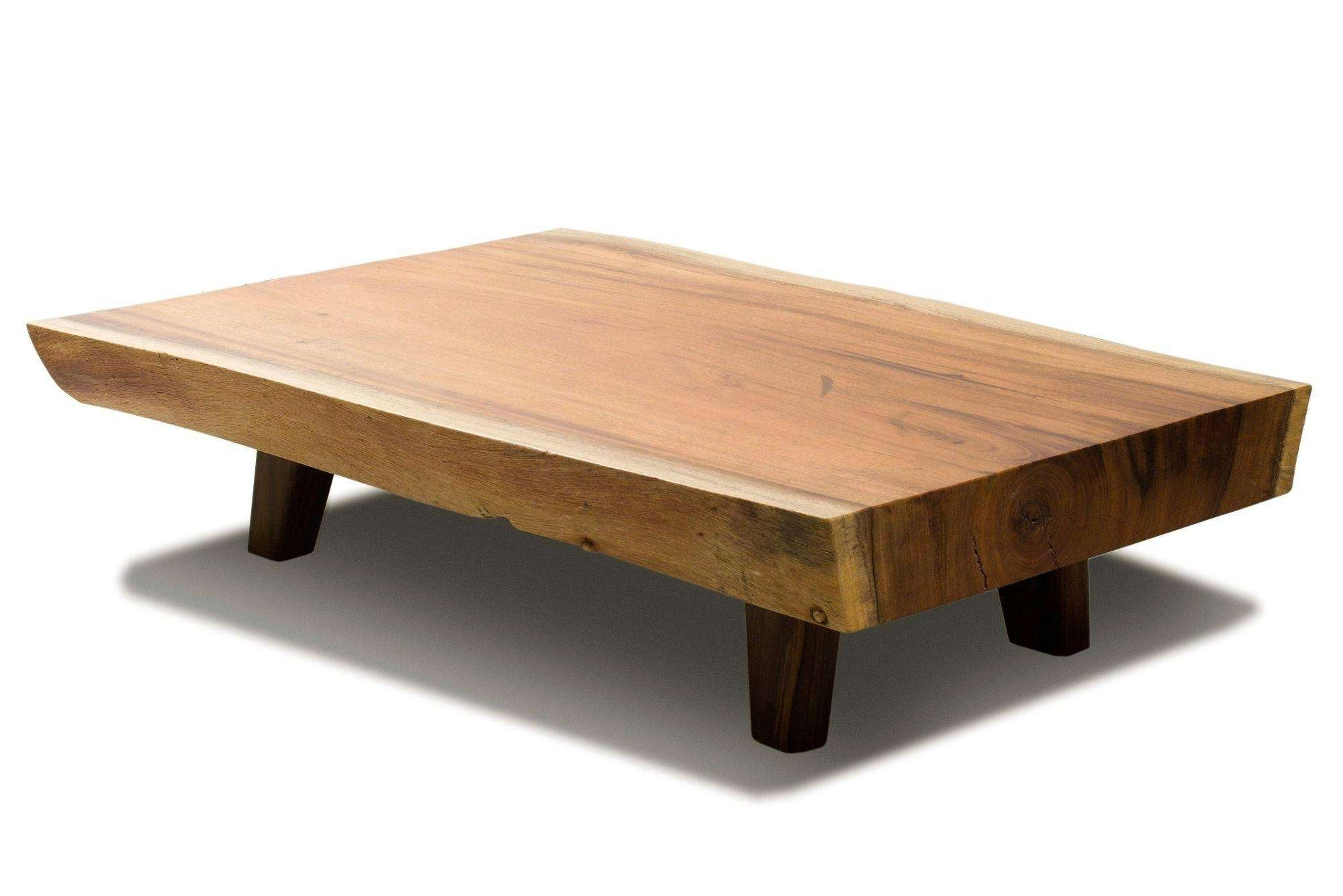 Well Known Low Wooden Coffee Tables Throughout Coffee Table : Popular Large Low Wood Coffee Tables Raw Edge Table (View 5 of 20)
