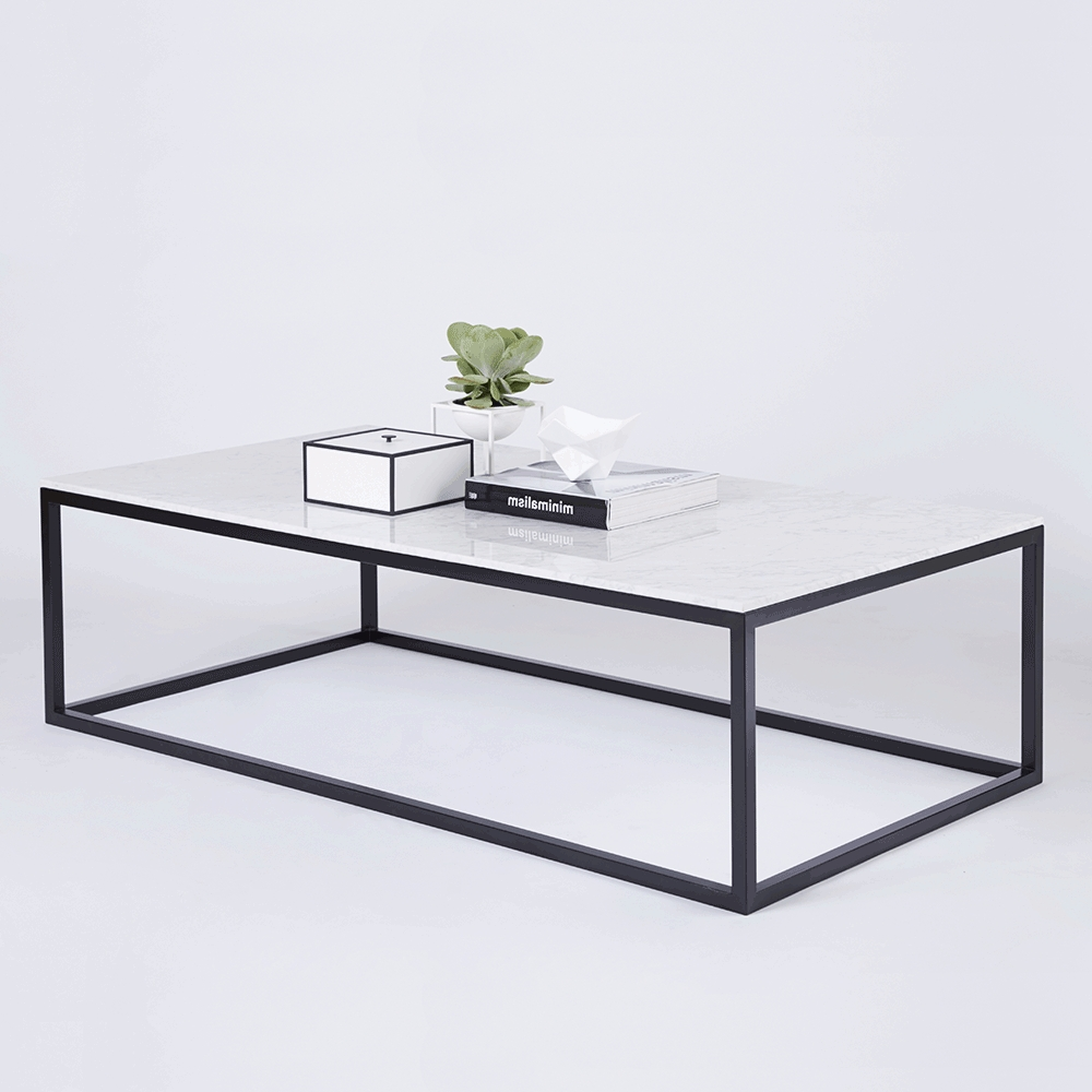 Well Known Marble And Metal Coffee Tables Inside Coffee Table : Box Frame Coffee Table Metal West Elm Glass With (View 3 of 20)
