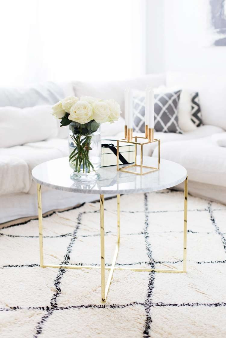 Well Known Marble Coffee Tables Pertaining To Marble Coffee Tables For Every Budget – The Everygirl (View 15 of 20)
