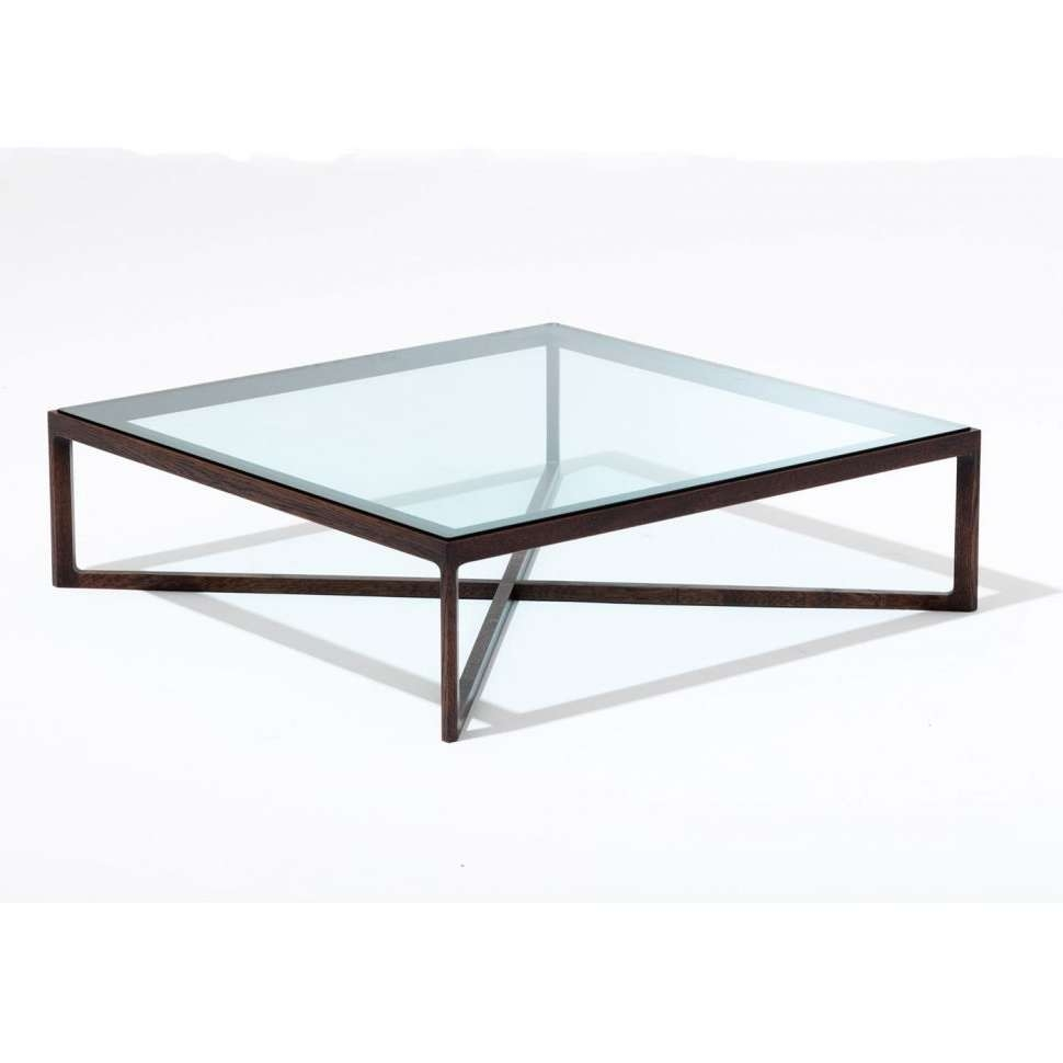 Well Known Metal Glass Coffee Tables With Coffee Tables : Glass Coffee Table With Oak Base Tables From (View 10 of 20)