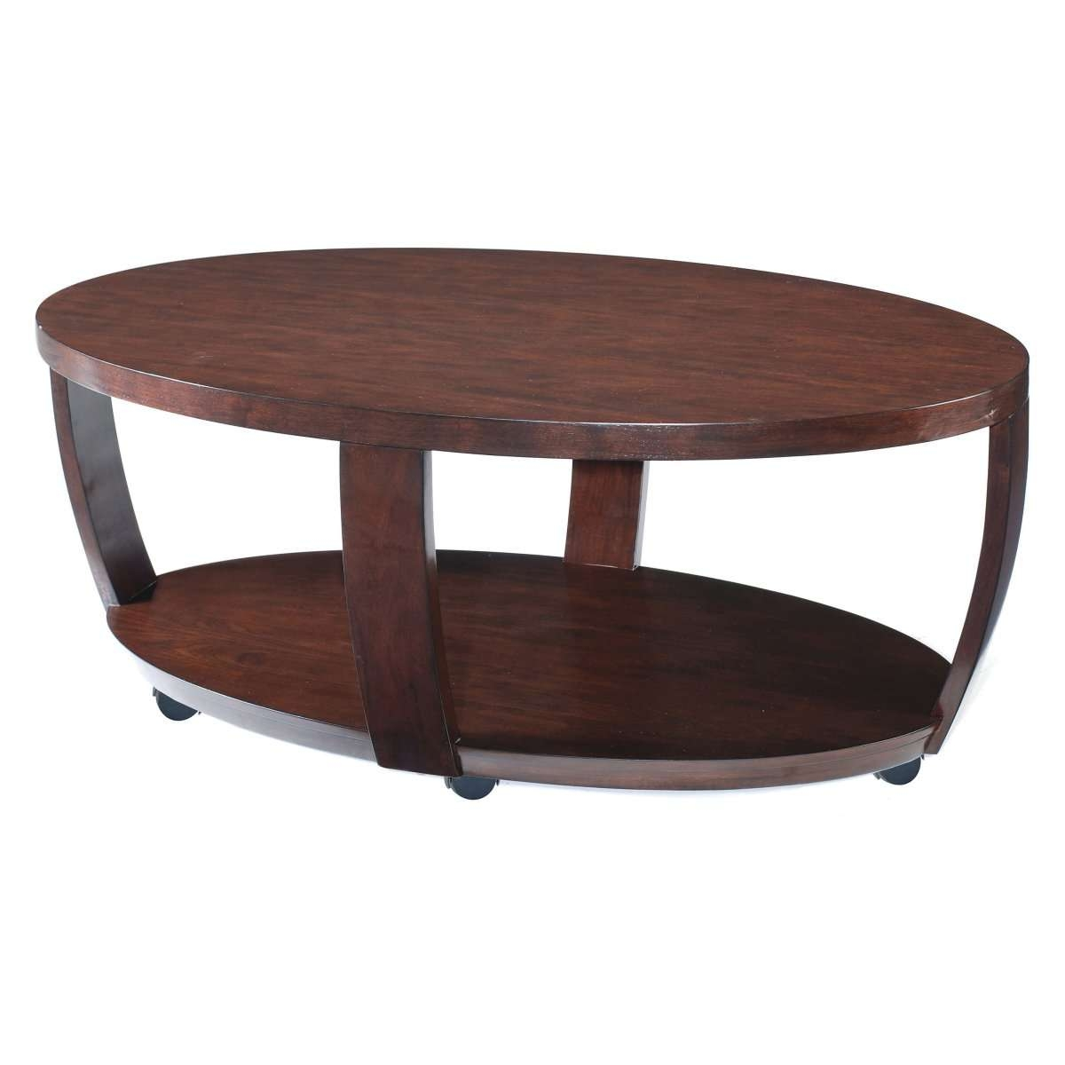 Well Known Metal Oval Coffee Tables Regarding Coffee Tables : Oval Wood Coffee Table Wooden Sets Dark Cherry (View 14 of 20)