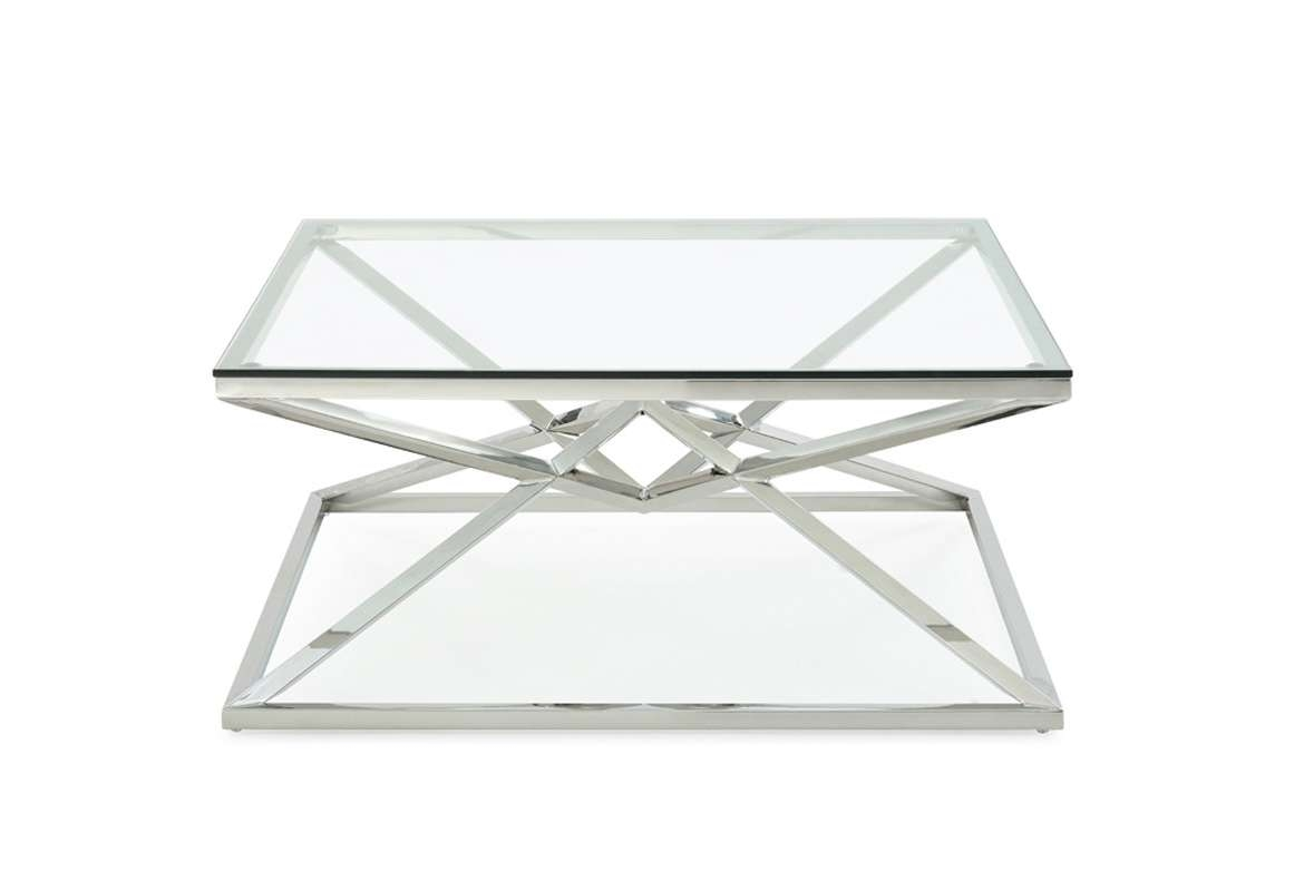 Well Known Modern Square Glass Coffee Tables Pertaining To Xander Modern Square Glass Coffee Table (View 19 of 20)