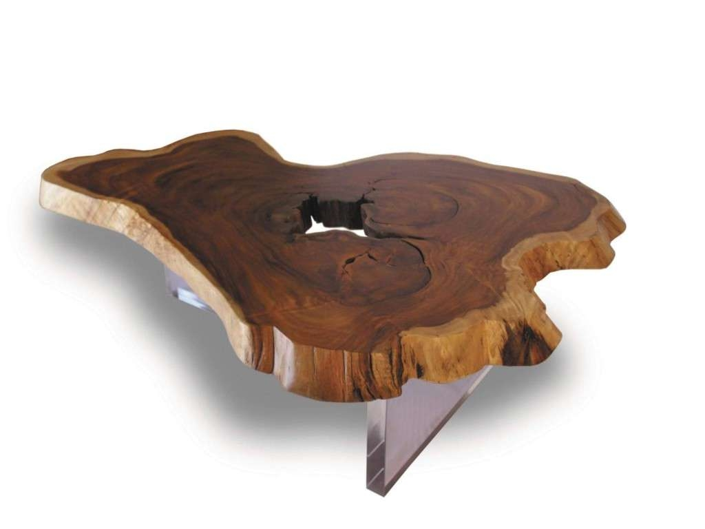 Well Known Natural Wood Coffee Tables Regarding Natural Wood Coffee Table Fresh Rustic Wood Slab Coffee Table (View 18 of 20)
