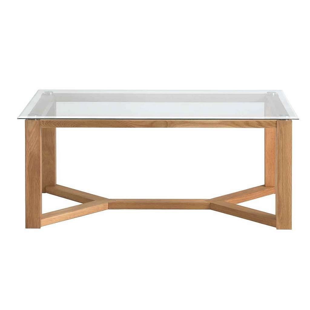Well Known Oak And Glass Coffee Tables Inside Double Glass Coffee Table Tags : Splendid Large Square Coffee (View 10 of 20)