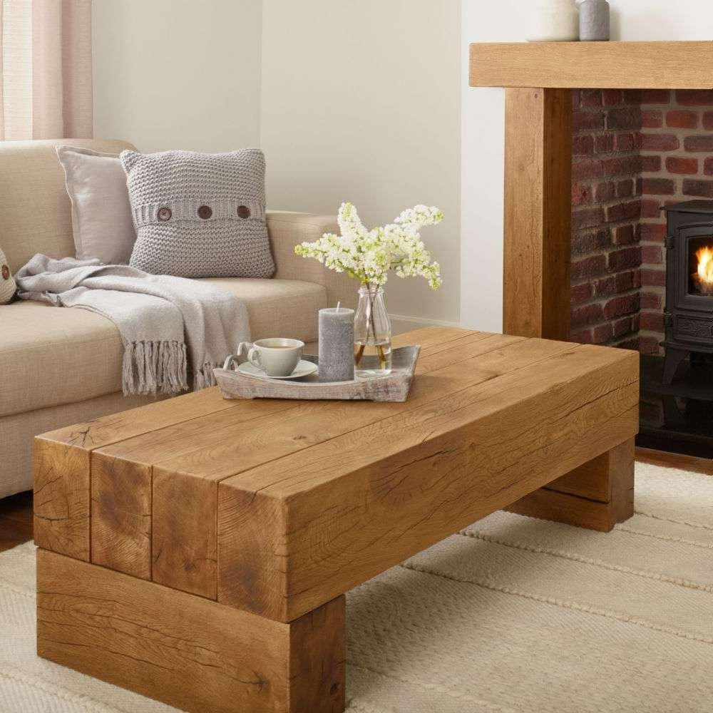 Well Known Oak Beam Coffee Tables For Oak Coffee Table – Banbury Solid French Rustic Beam (View 17 of 20)
