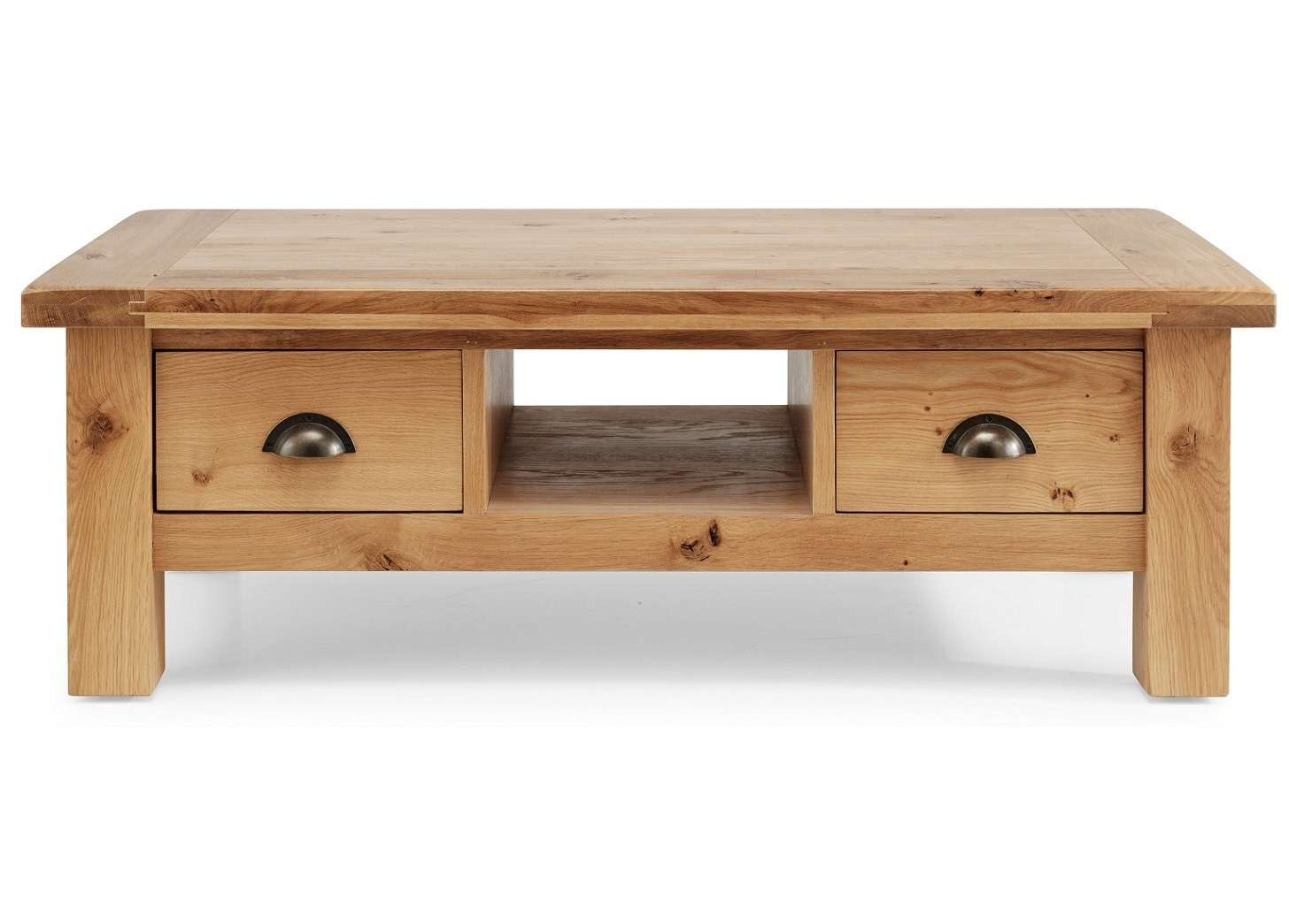 Well Known Oak Coffee Table With Drawers For Normandy Rustic French Oak Coffee Table With Drawers (View 19 of 20)
