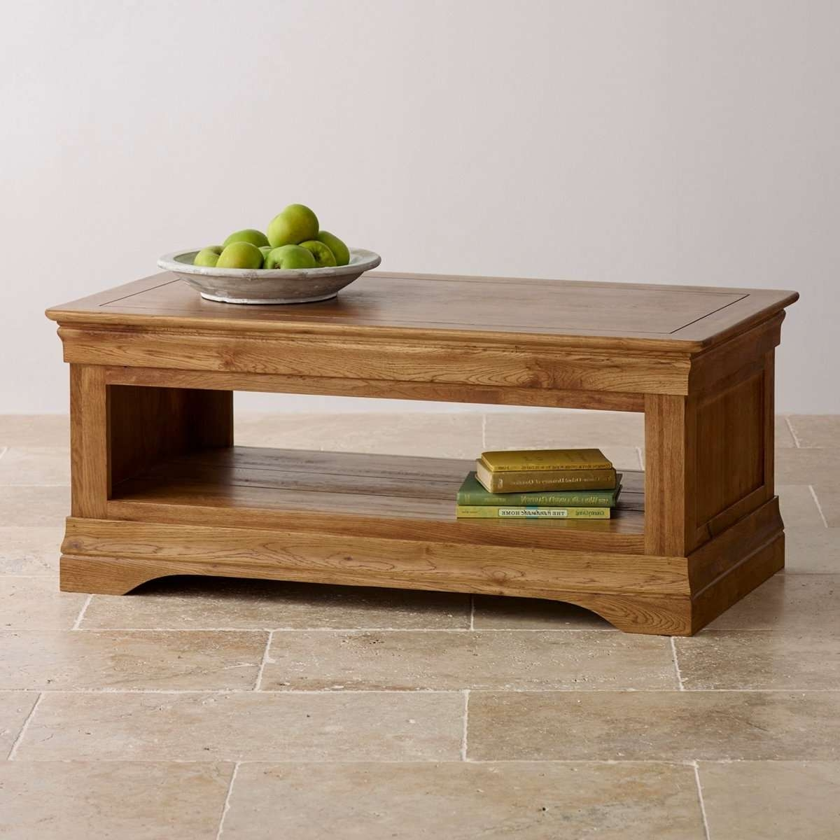 Well Known Oak Coffee Table With Shelf With What Kind Of Floor Tiles Combined With An Oak Coffee Table? — The (View 4 of 20)
