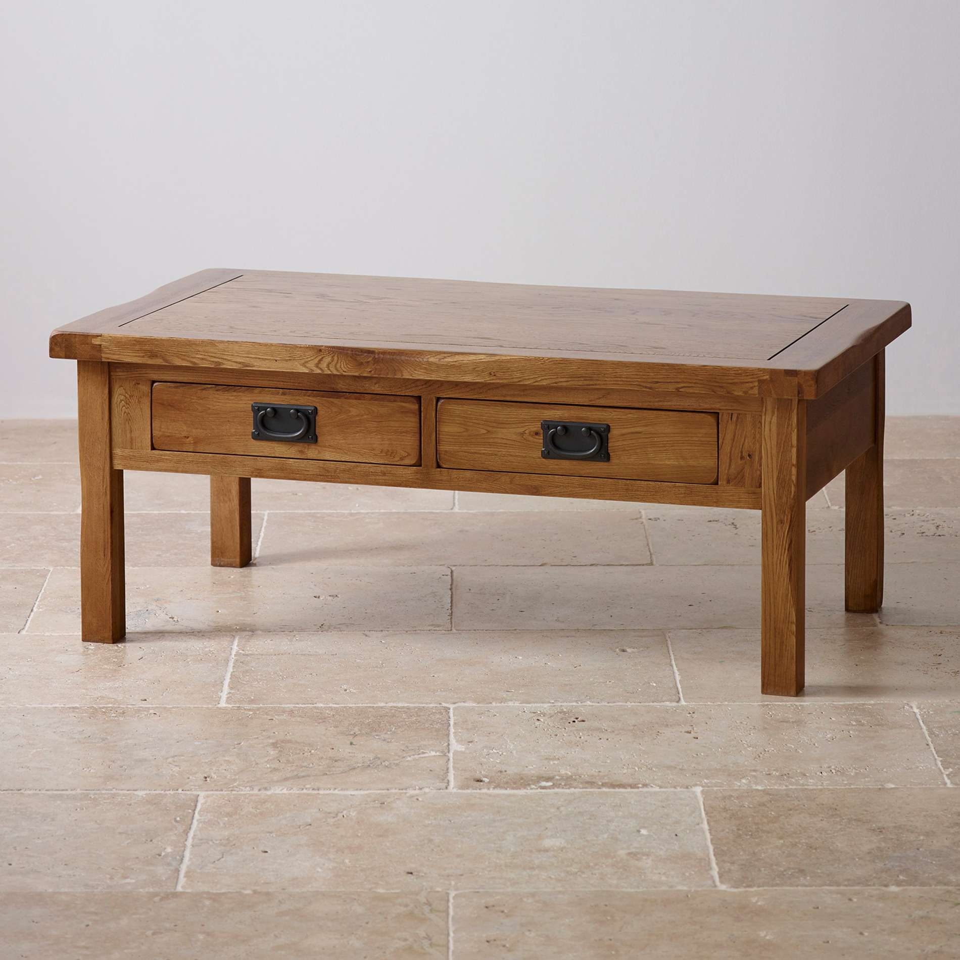 Well Known Oak Furniture Coffee Tables Regarding Original Rustic 4 Drawer Coffee Table In Solid Oak (View 7 of 20)