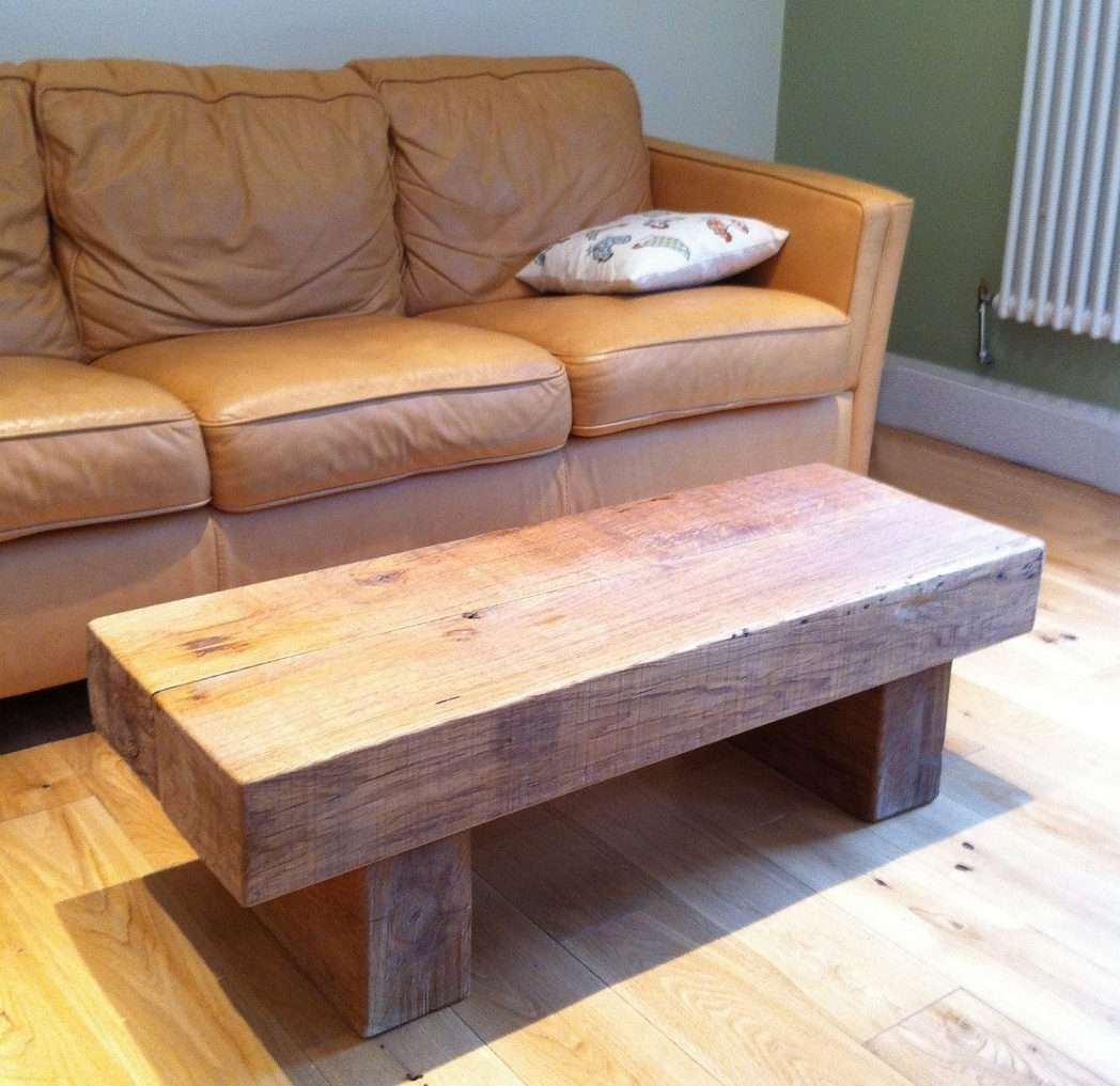 Well Known Oak Sleeper Coffee Tables Regarding Railroad Tie Coffee Table / Coffee Tables / Thippo (View 20 of 20)