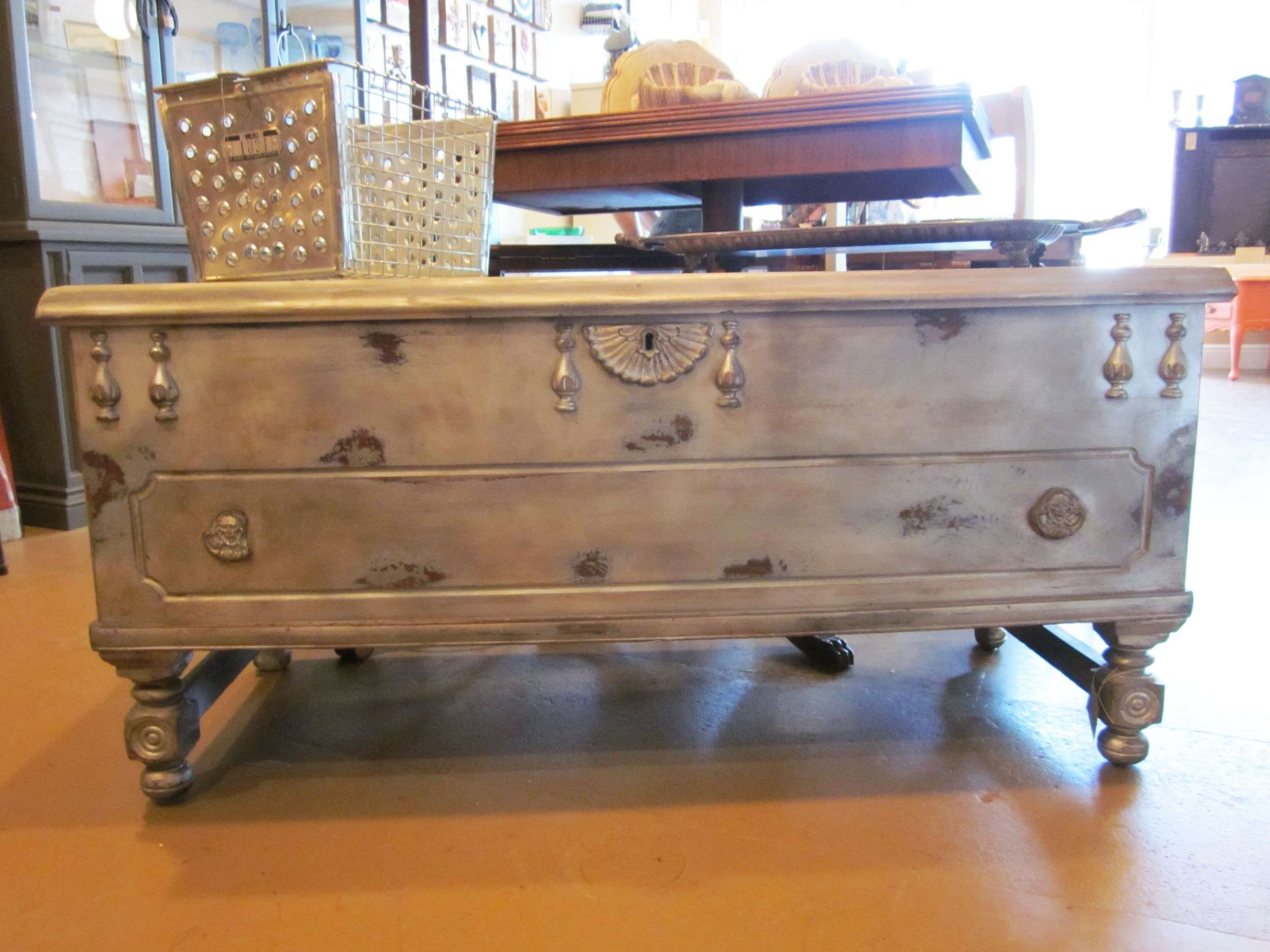 Well Known Old Trunks As Coffee Tables For Steamer Trunk Coffee Tables Have Unique & Rustic Designs (View 12 of 20)