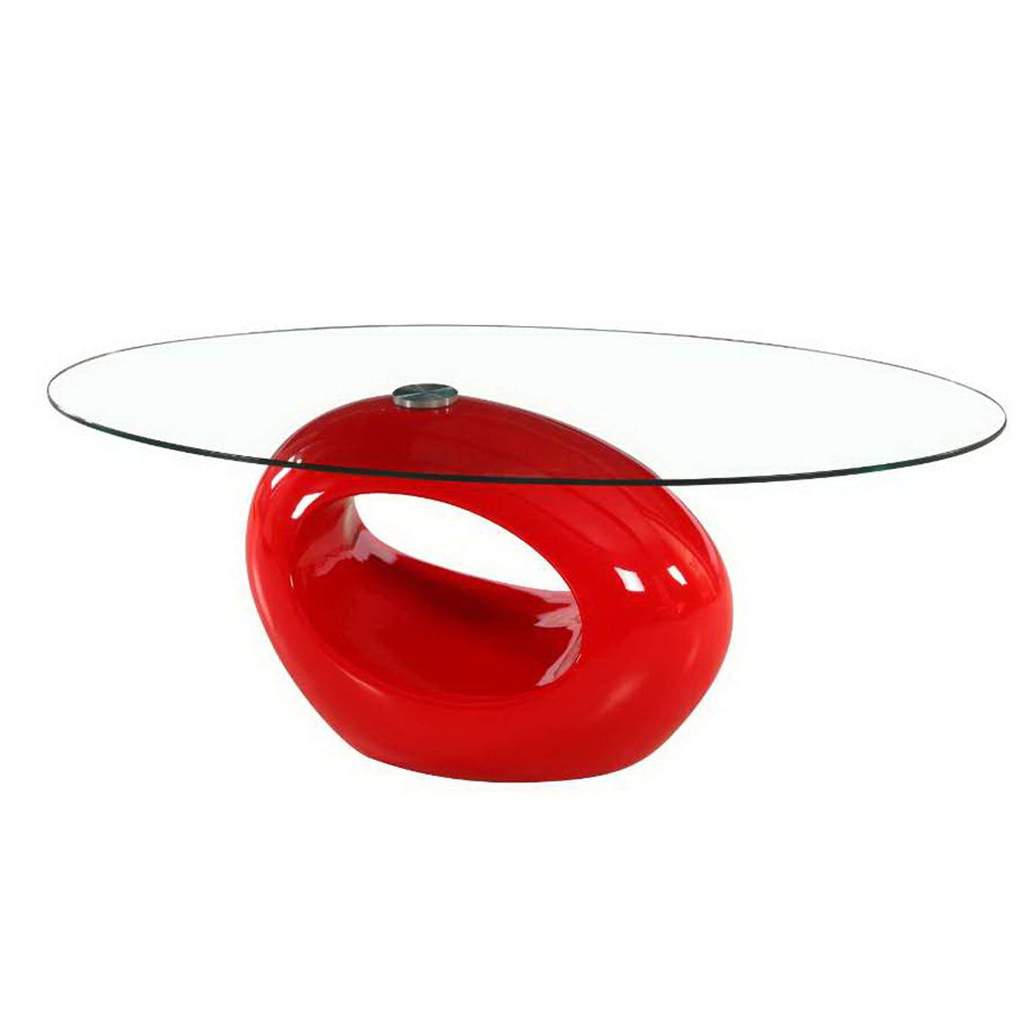 Well Known Oval Glass Coffee Tables For Glossy Red Oval Style Glass Coffee Tablesfab Glass And Mirror (View 17 of 20)