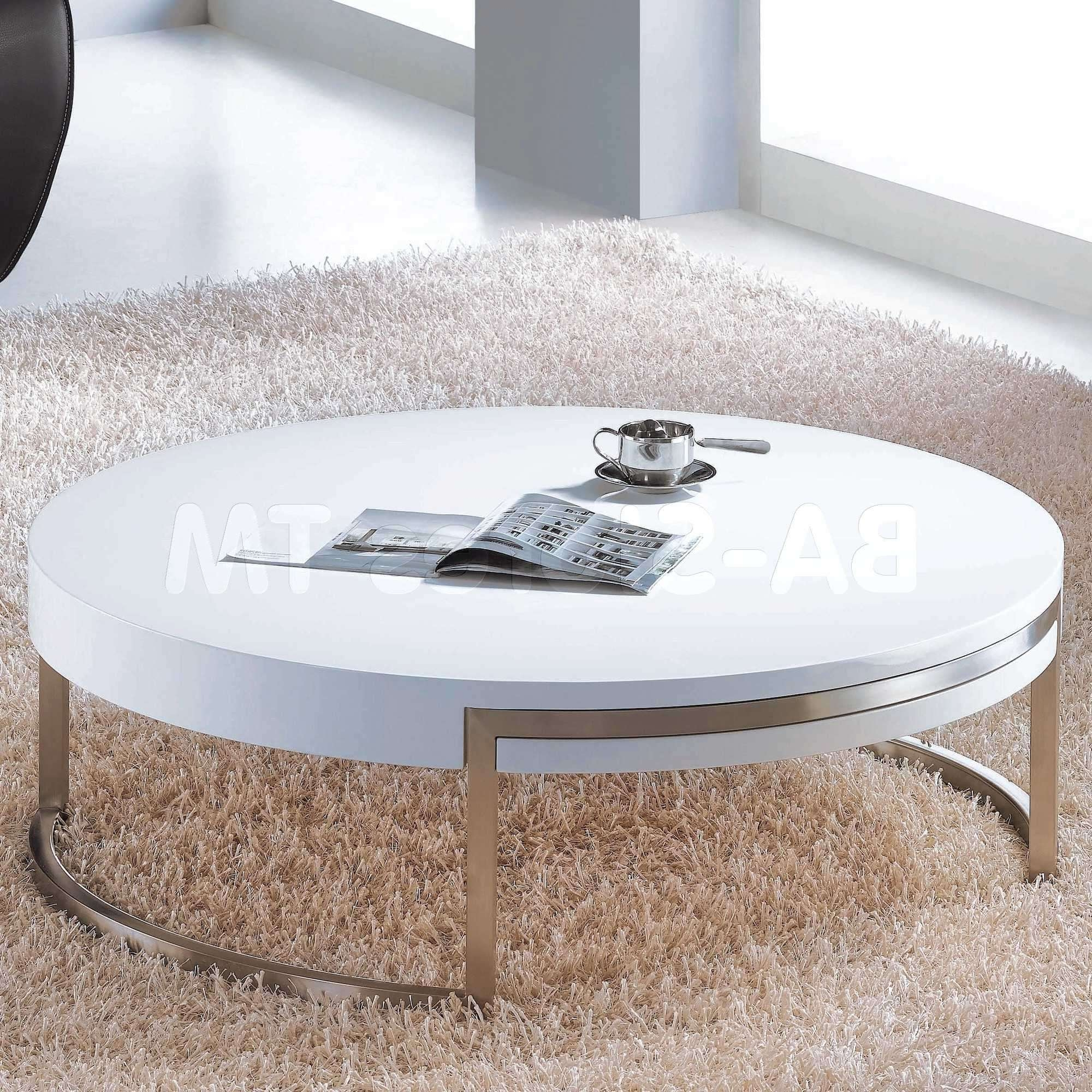 20 Photos Oval Gloss Coffee Tables
