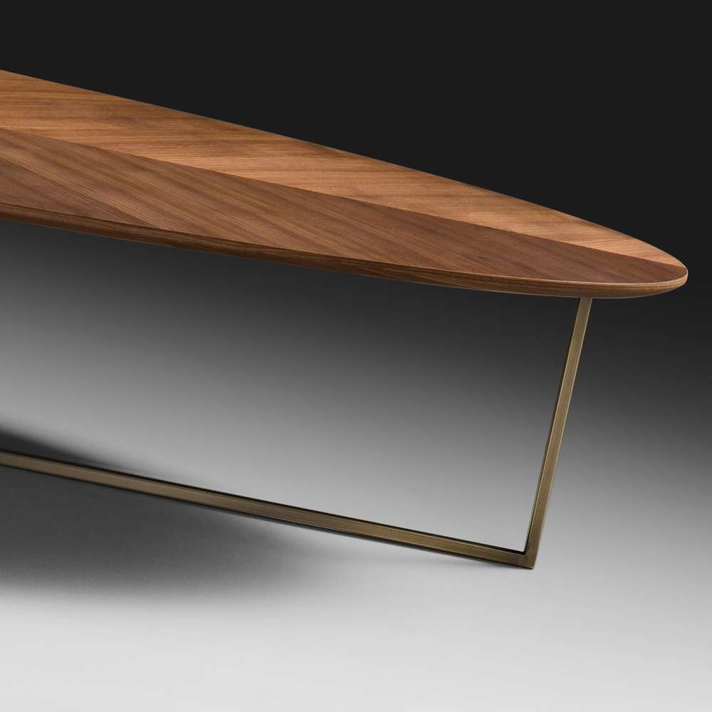 Well Known Oval Walnut Coffee Tables With Regard To Contemporary Oval Coffee Table — All Furniture : Good Decorating (View 2 of 20)
