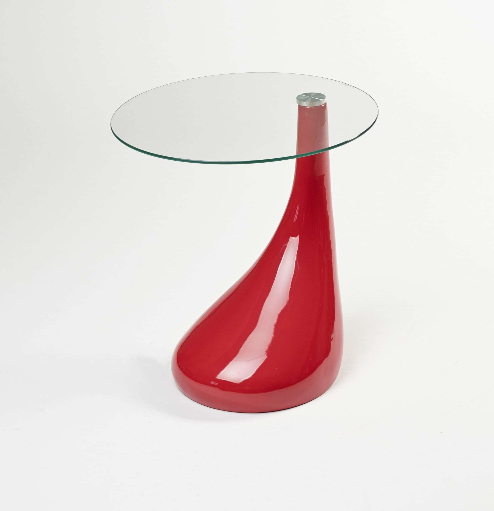 Well Known Red Gloss Coffee Tables Within Side Table End Table Lamp Table Round Red Gloss Modern (View 10 of 20)