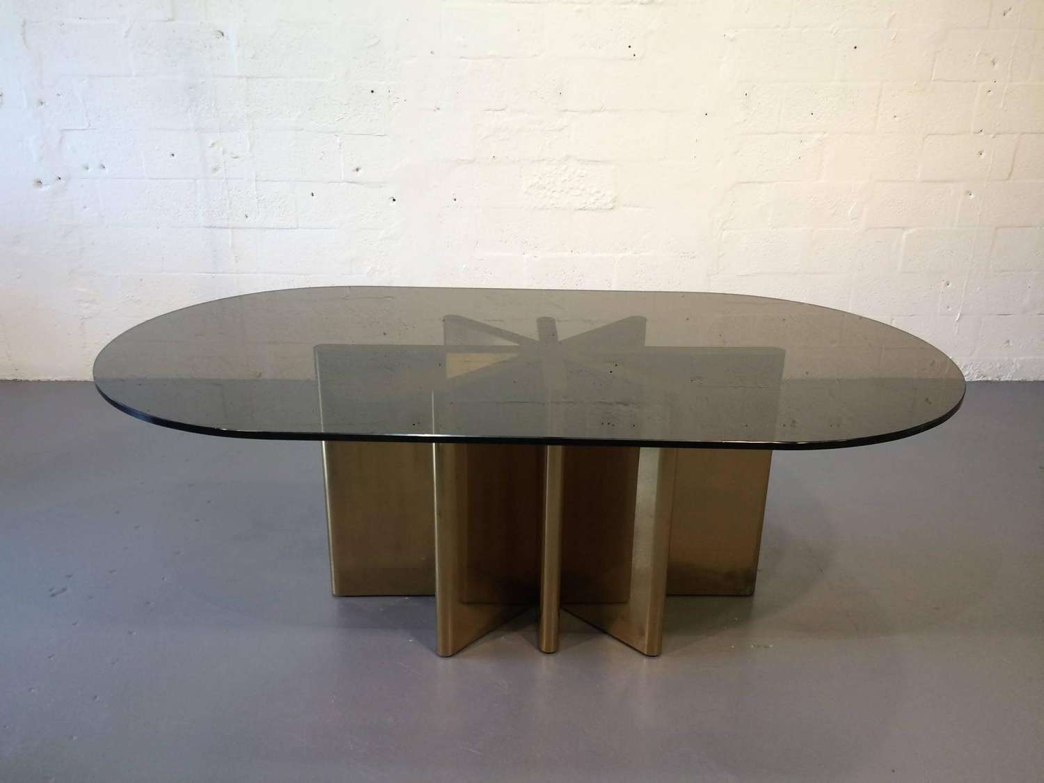 Well Known Retro Smoked Glass Coffee Tables Throughout Coffee Tables : Astonishing Smoked Glass And Chrome Coffee Table (View 9 of 20)