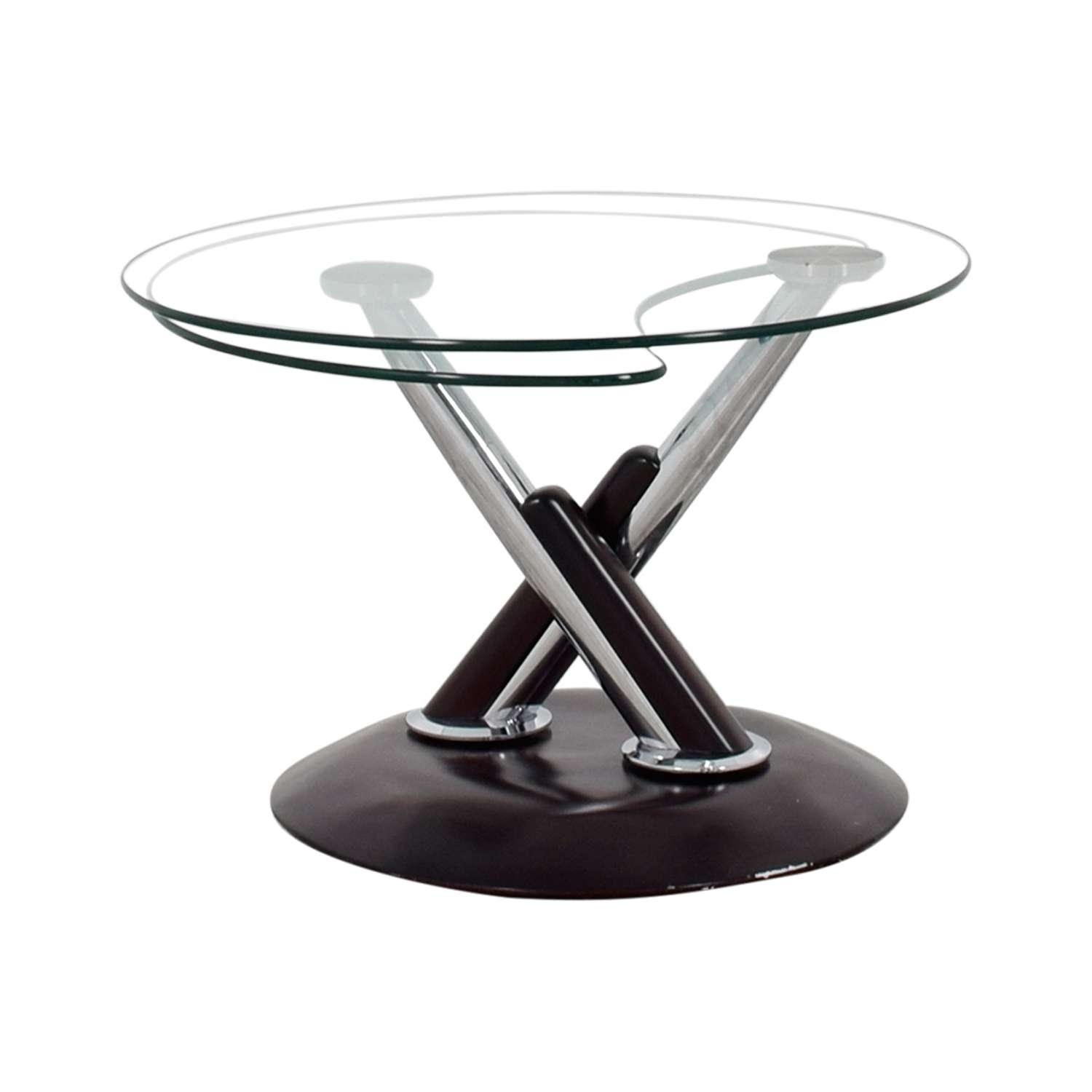 Oval Rotating Coffee Table: Revolving Glass Coffee Table