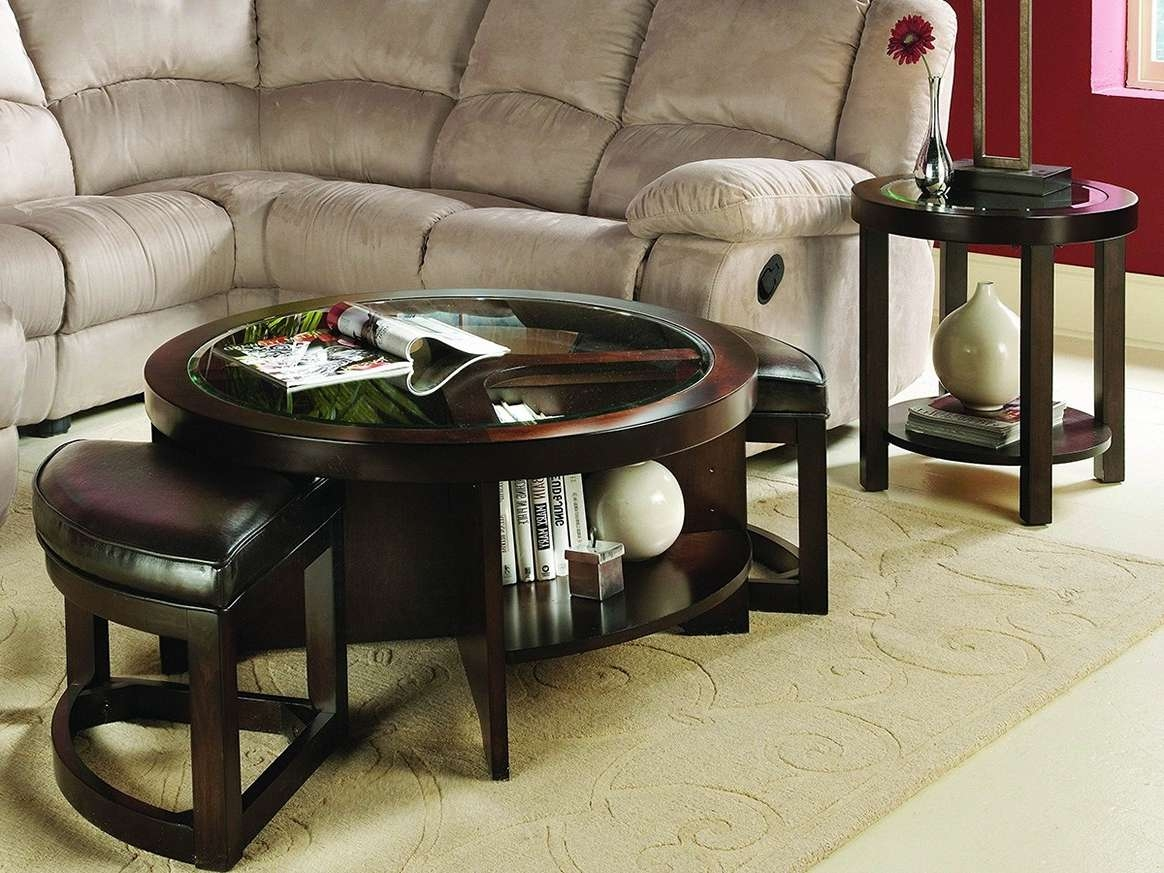 Well Known Round Coffee Table Trays Throughout Cool Round Ottoman Coffee Table Tray (View 10 of 20)