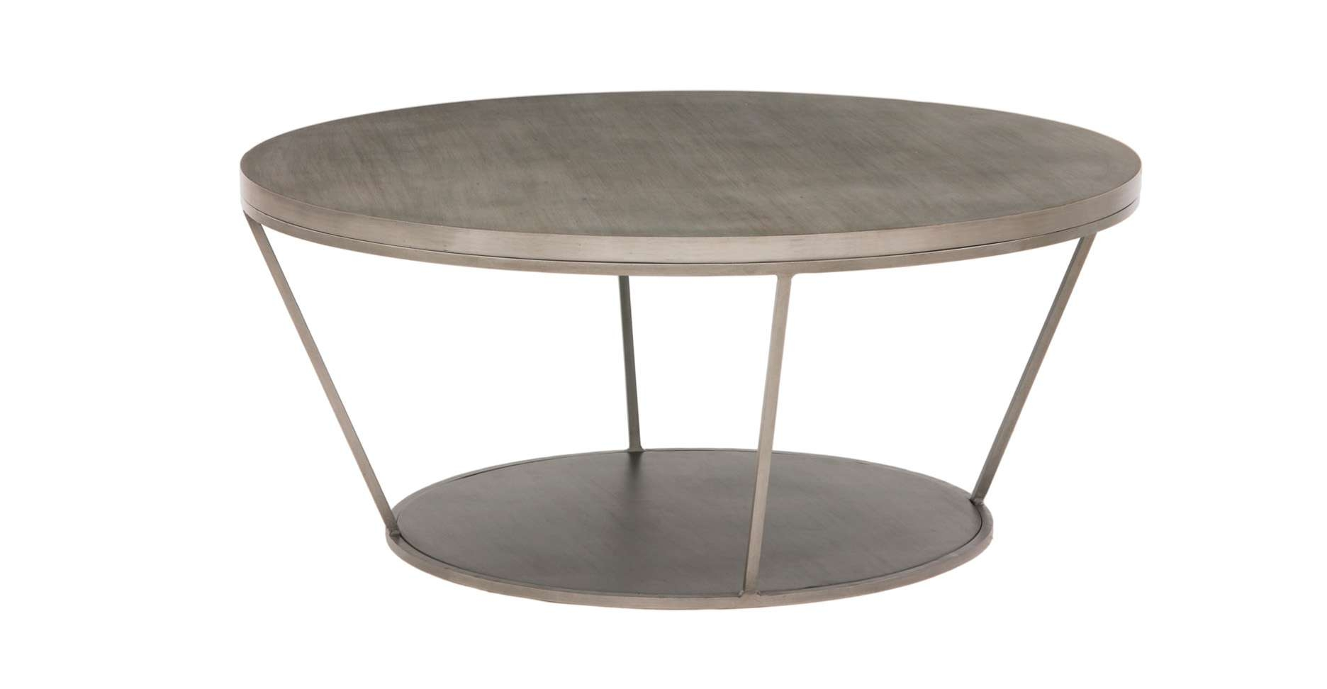 Well Known Round Steel Coffee Tables Regarding Blair Round Coffee Table (View 13 of 20)