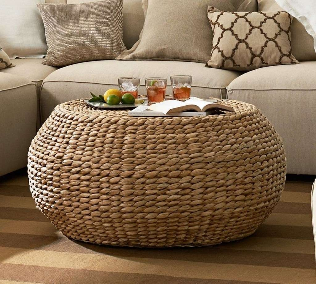 Well Known Round Woven Coffee Tables Intended For Remarkable Round Wicker Coffee Table Glass – Indoor Round Wicker (View 17 of 20)