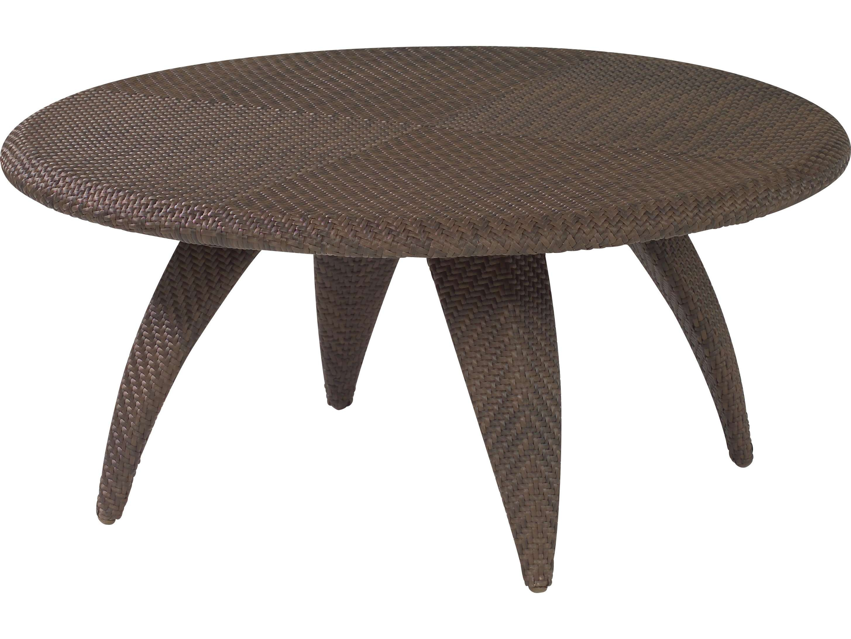 Well Known Round Woven Coffee Tables With Regard To Coffee Tables : Rattan Ottoman Storage West Elm Round Coffee Table (View 18 of 20)
