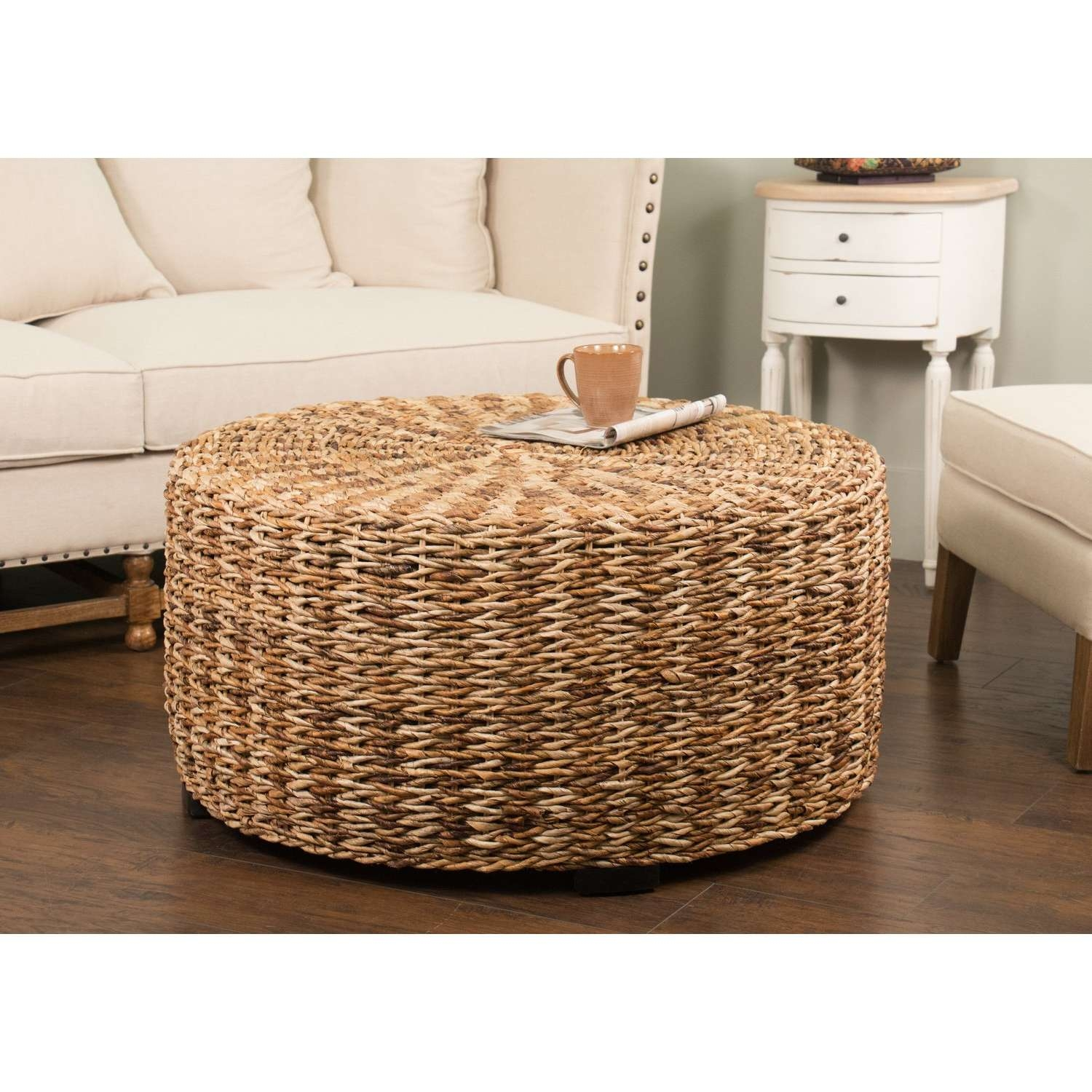 Beau Well Known Round Woven Coffee Tables Within Coffee Tables : Round Seagrass  Coffee Table Ikea Alseda