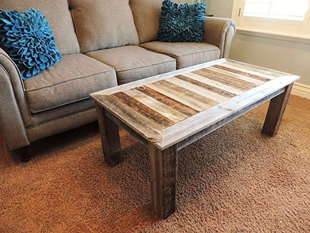 Well Known Rustic Barnwood Coffee Tables Inside 25 Diy Rustic Coffee Tables For Minimalist Living Room (View 18 of 20)