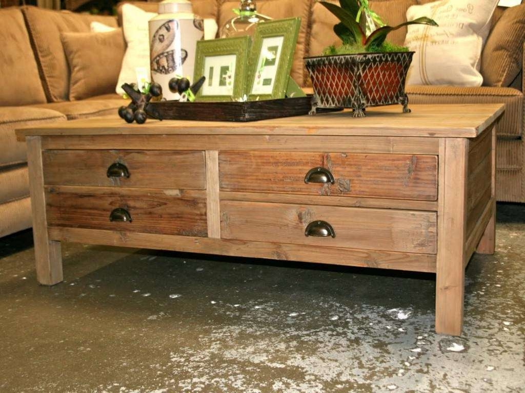 Well Known Rustic Coffee Table Drawers Within Brilliant Rustic Coffee Tables With Storage With Coffee Table With (View 10 of 20)