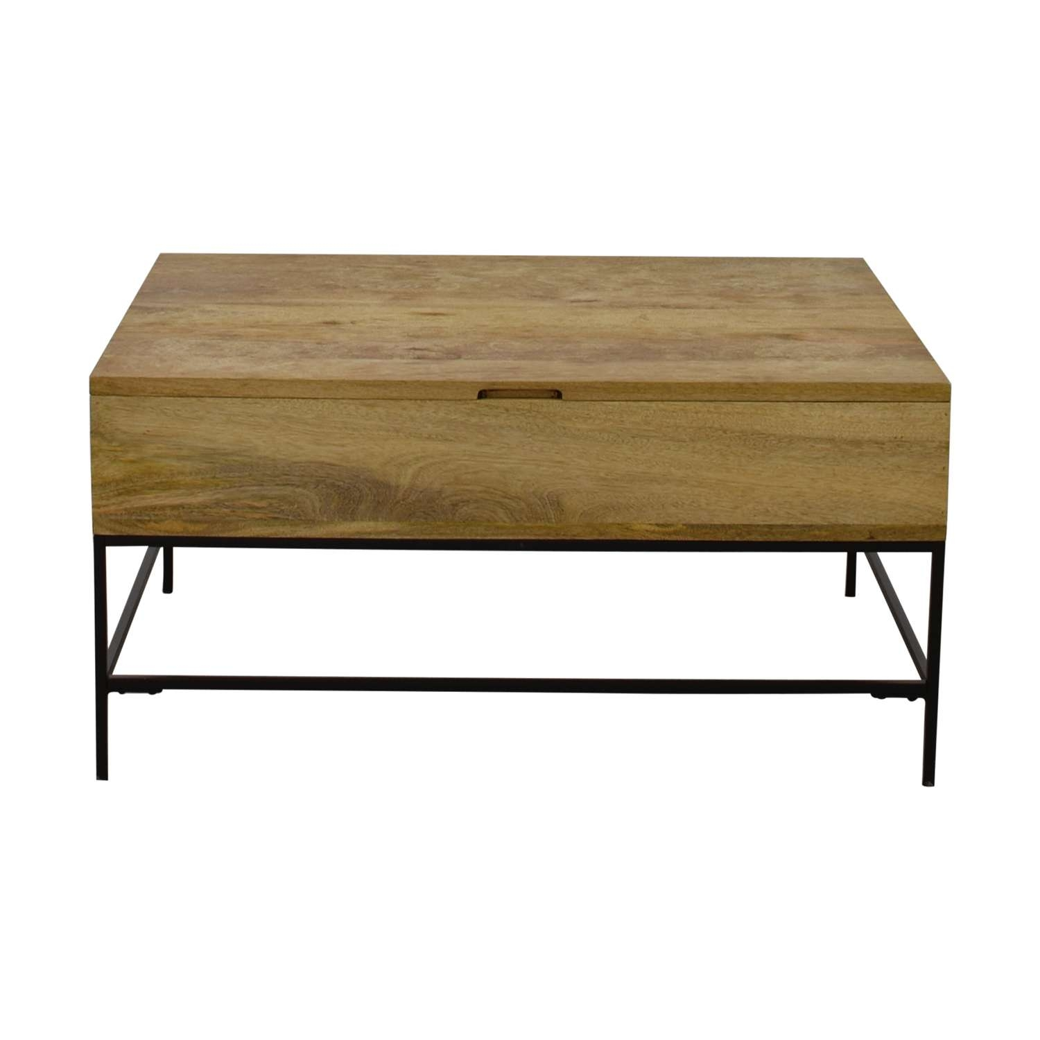 [%Well Known Rustic Wooden Coffee Tables Intended For 47% Off – West Elm West Elm Rustic Wood Coffee Table / Tables|47% Off – West Elm West Elm Rustic Wood Coffee Table / Tables With Best And Newest Rustic Wooden Coffee Tables%] (View 1 of 20)