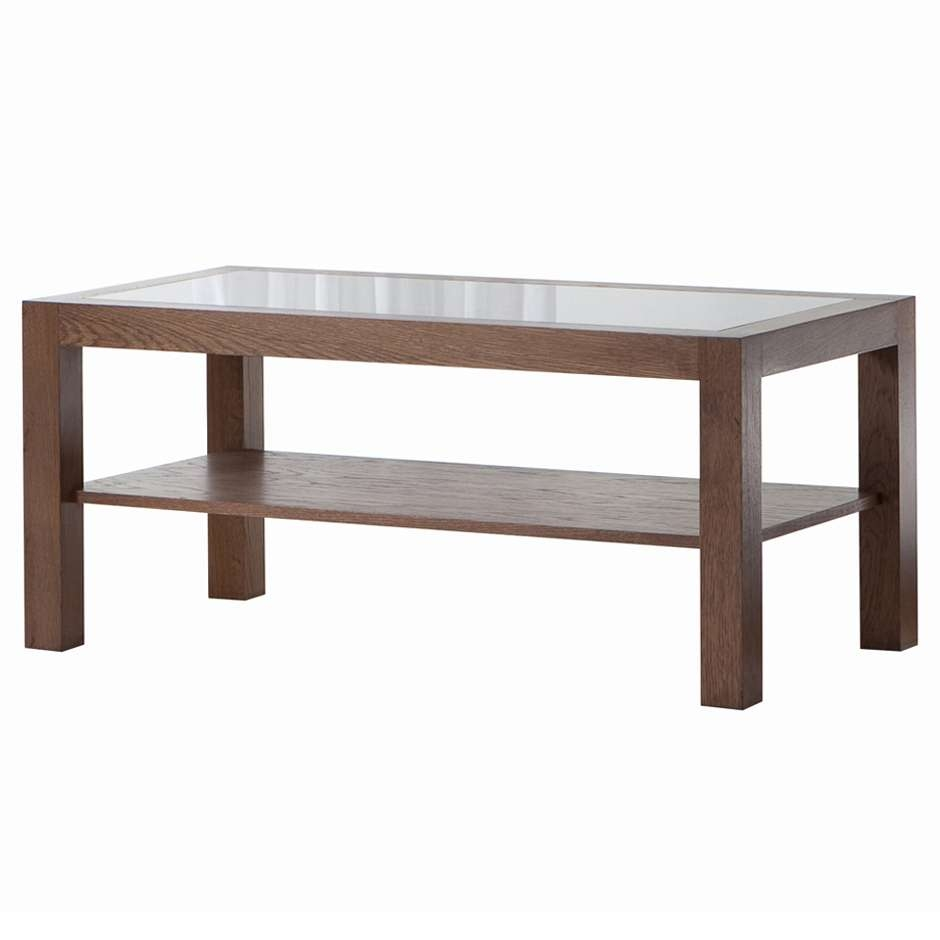 Well Known Simple Glass Coffee Tables With Coffee Tables Ideas: Top Glass Wood Coffee Table Modern Round Wood (View 17 of 20)