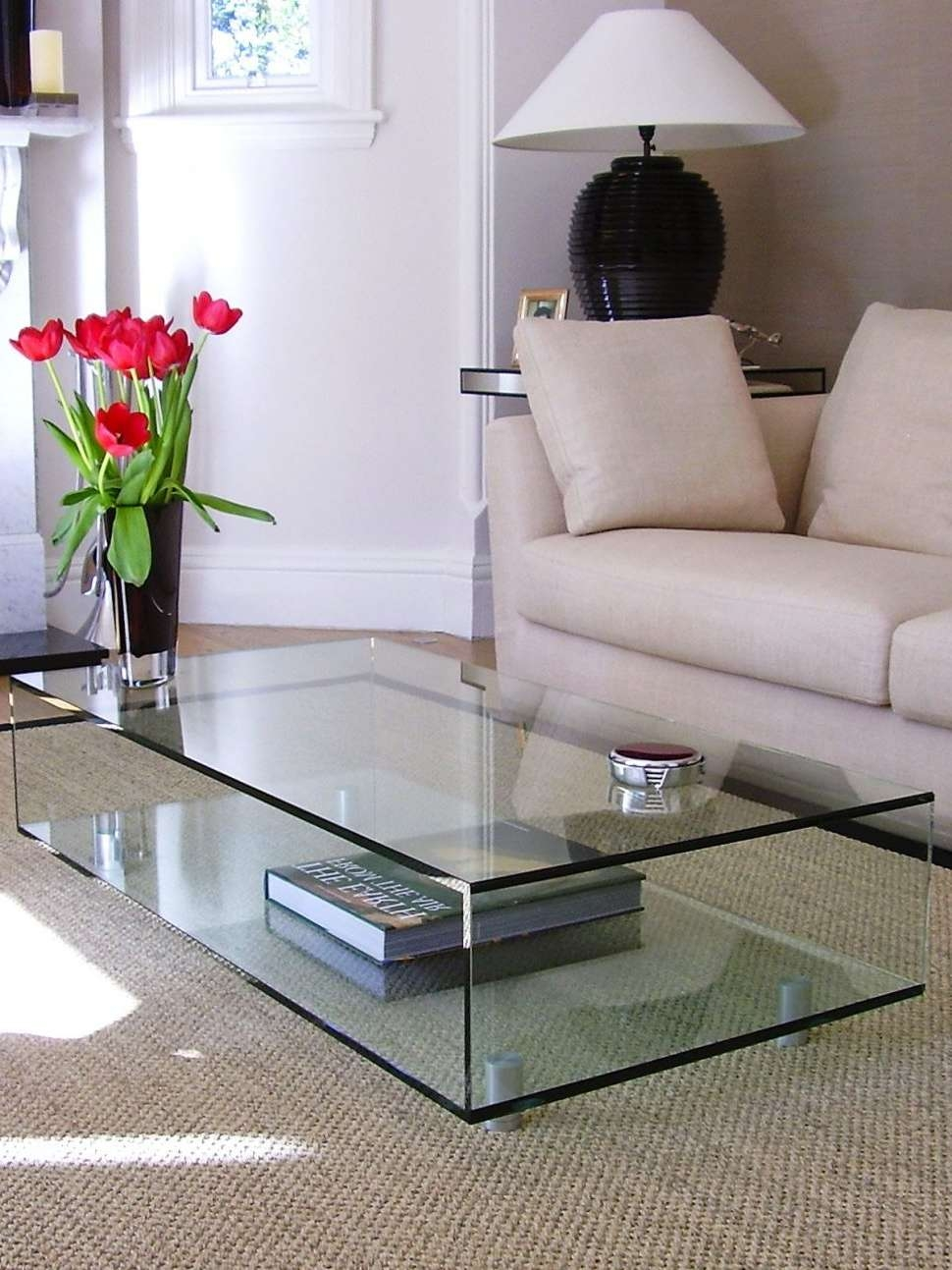 Well Known Small Glass Coffee Tables In Coffee Tables : Buy John Lewis Frost Glass Coffee Table Online At (View 18 of 20)
