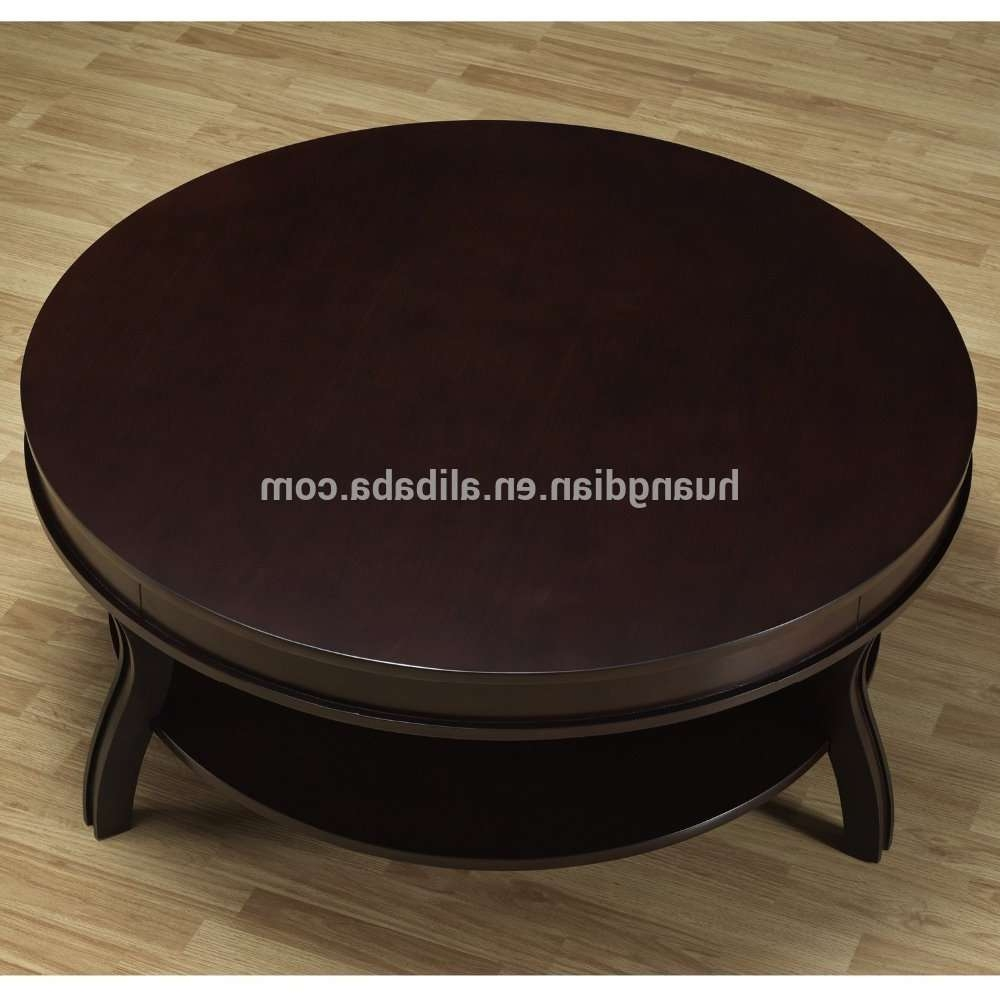 Well Known Solid Round Coffee Tables Pertaining To Hobby Lobby Furniture Wooden Round Coffee Table With Solid Wood (View 19 of 20)
