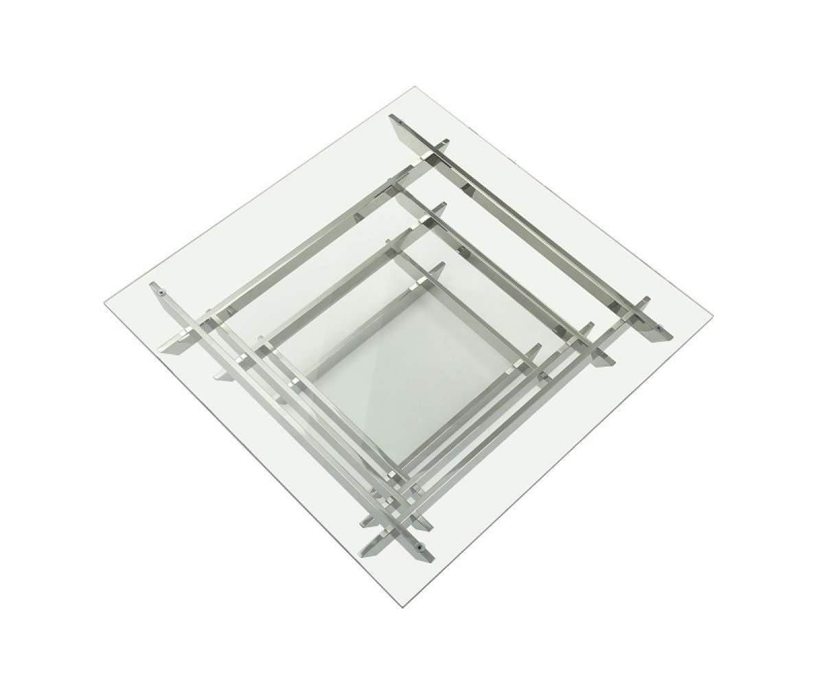 Well Known Square Glass Coffee Tables With Modrest Upton Modern Square Glass Coffee Table (View 20 of 20)