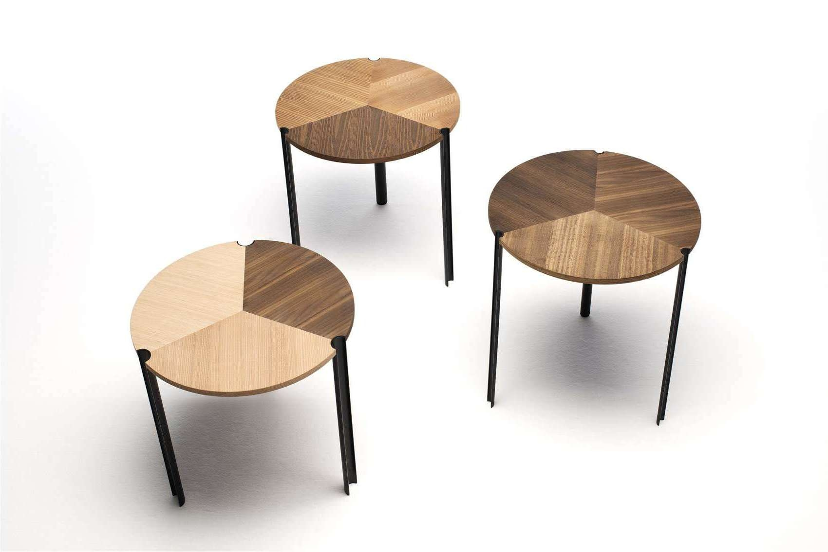 Well Known Stackable Coffee Tables Regarding Contemporary Side Table / Wooden / Round / Stackable – Starsky (View 19 of 20)